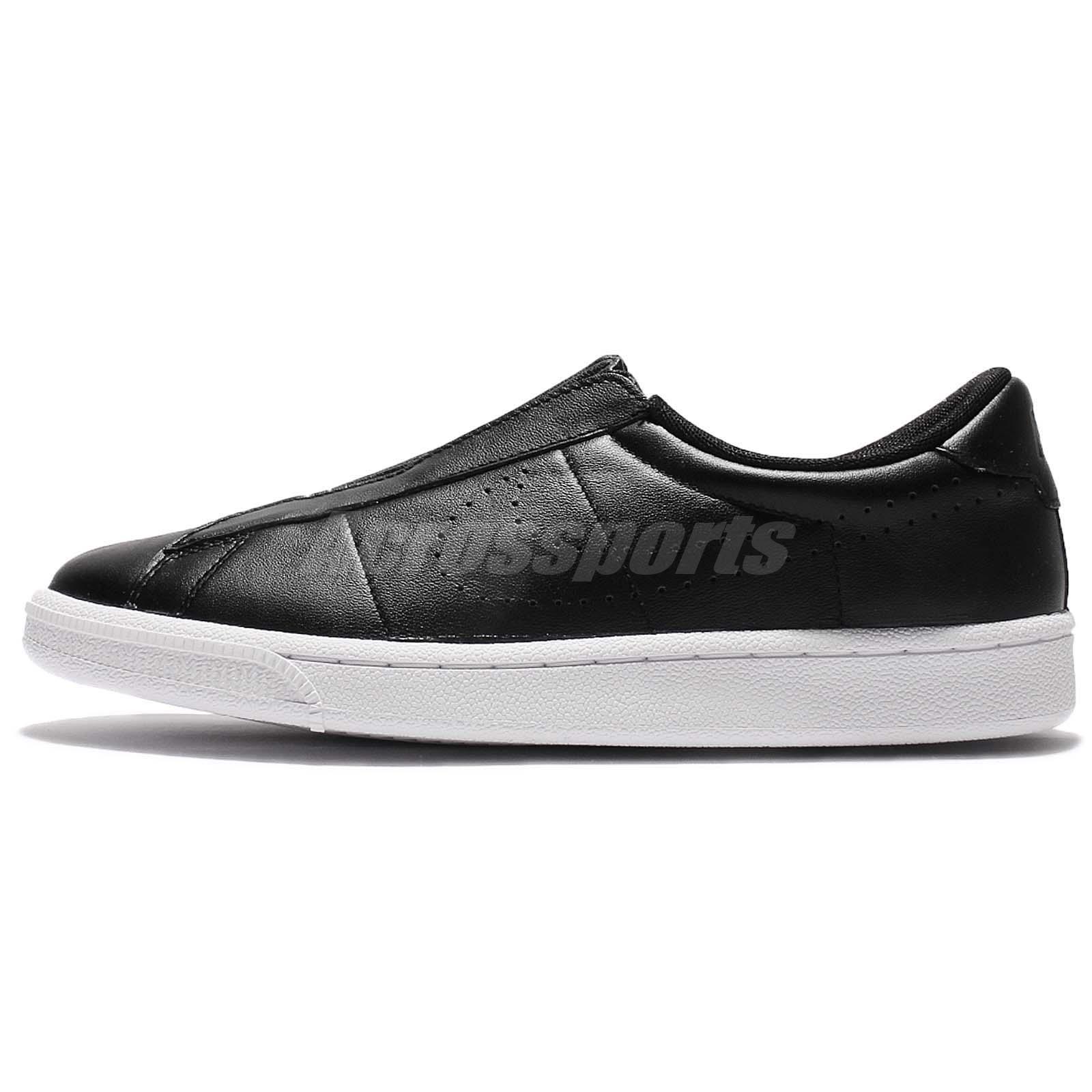 f74610cc843862 ... Wmns Nike Tennis Classic Ease Black Leather Women Shoes Slip-On NSW  896504-001  Nike Mens ...
