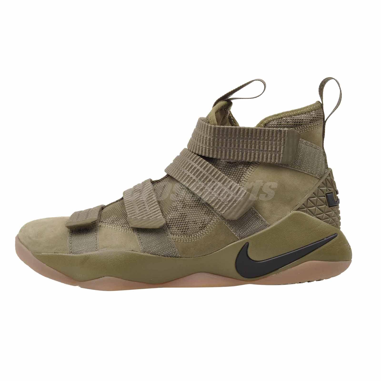 1db002bb9f105 Details about Nike Lebron Soldier XI SFG Basketball 9 Mens Shoes Olive  Black 897646-200