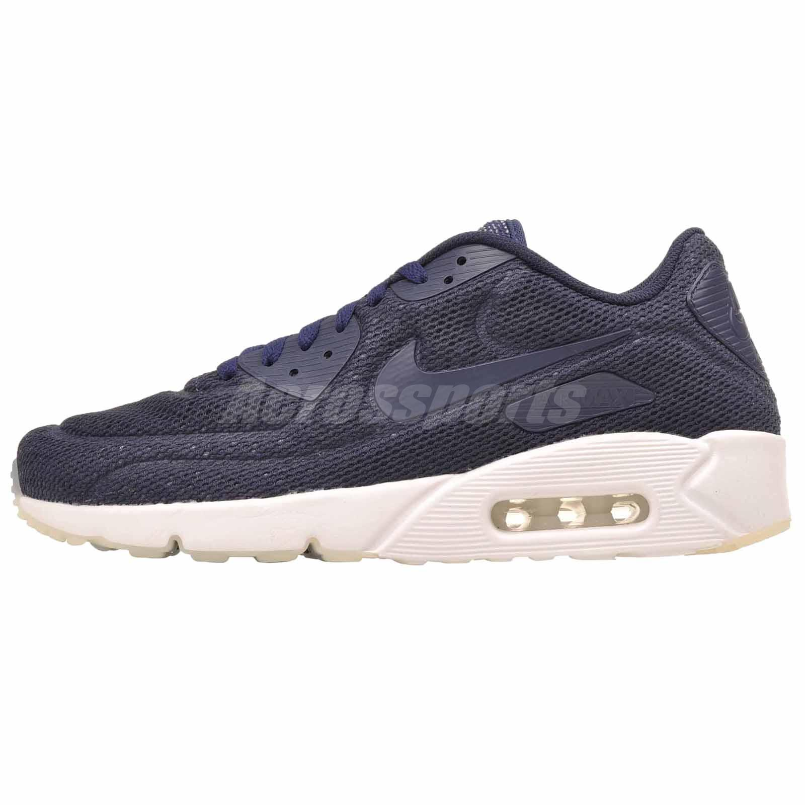 competitive price 143ba 48006 Details about Nike Air Max 90 Ultra 2.0 BR Running Shoes NWOB Mens Navy  Blue 898010-400