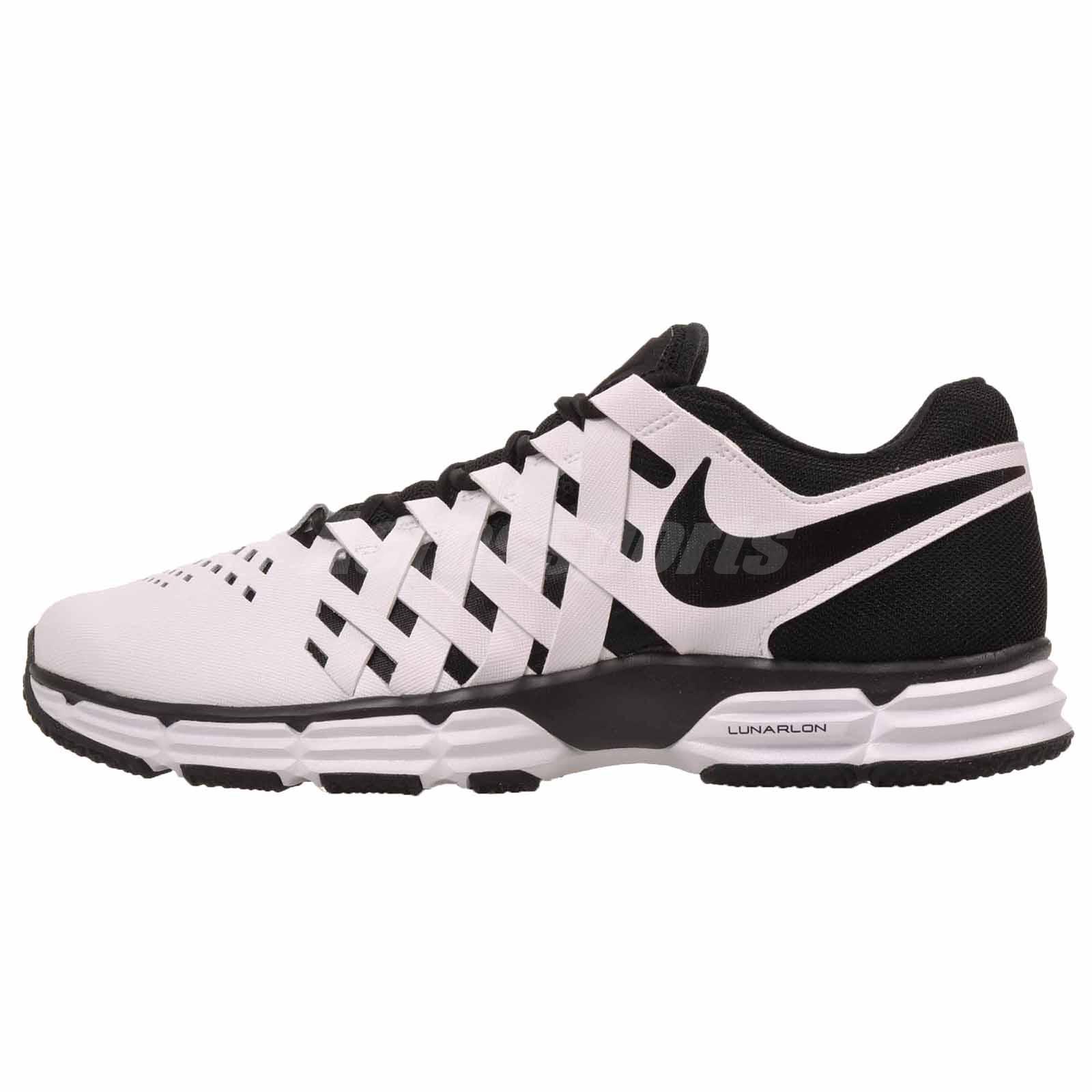 9dc14d97ef6b06 Details about Nike Lunar Fingertrap TR 4E Cross Training Mens Shoes White  Wide 898065-100