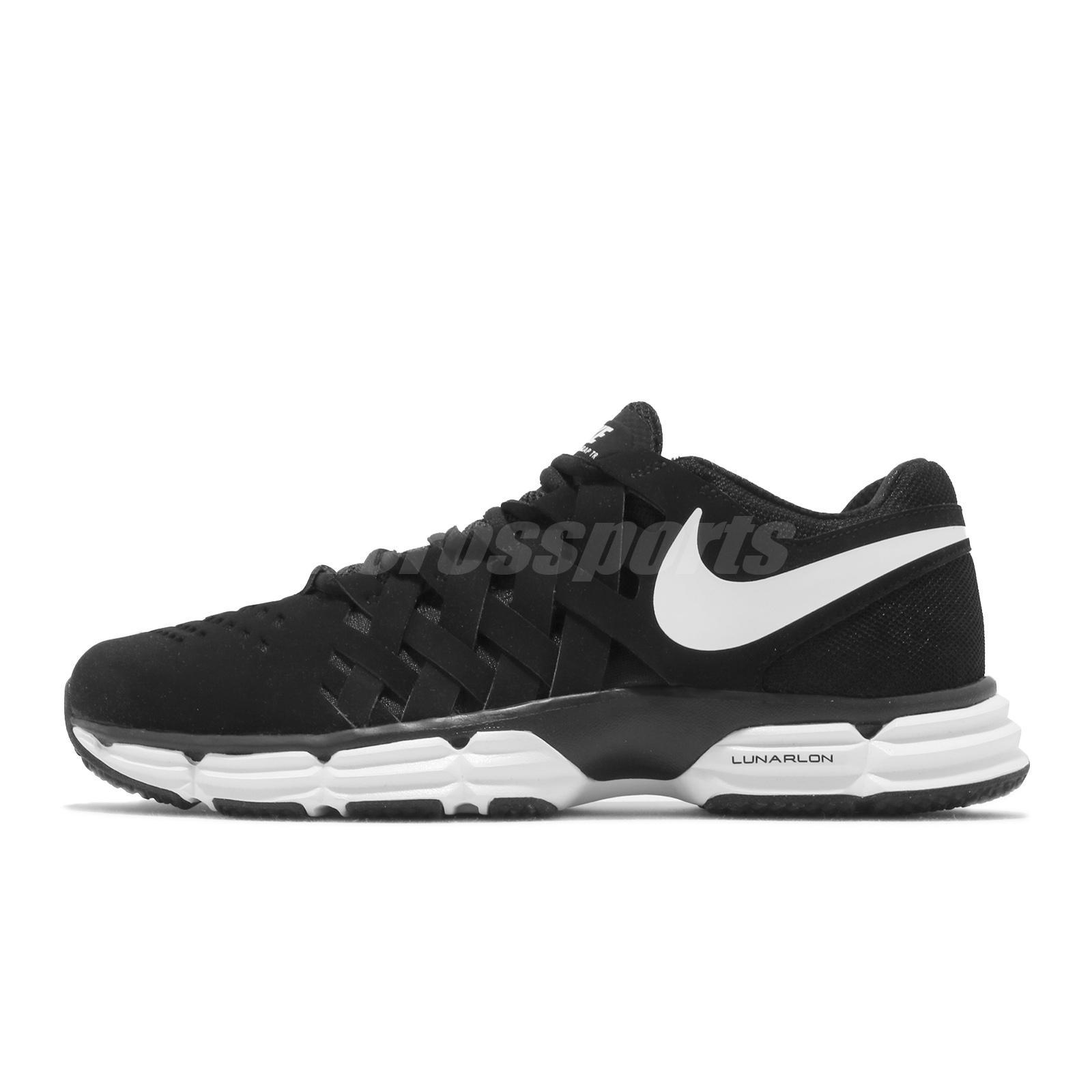 37c7ebe9b6c9b6 Details about Nike Lunar Fingertrap TR Cross Training Mens Shoes Black  White NWOB 898066-001
