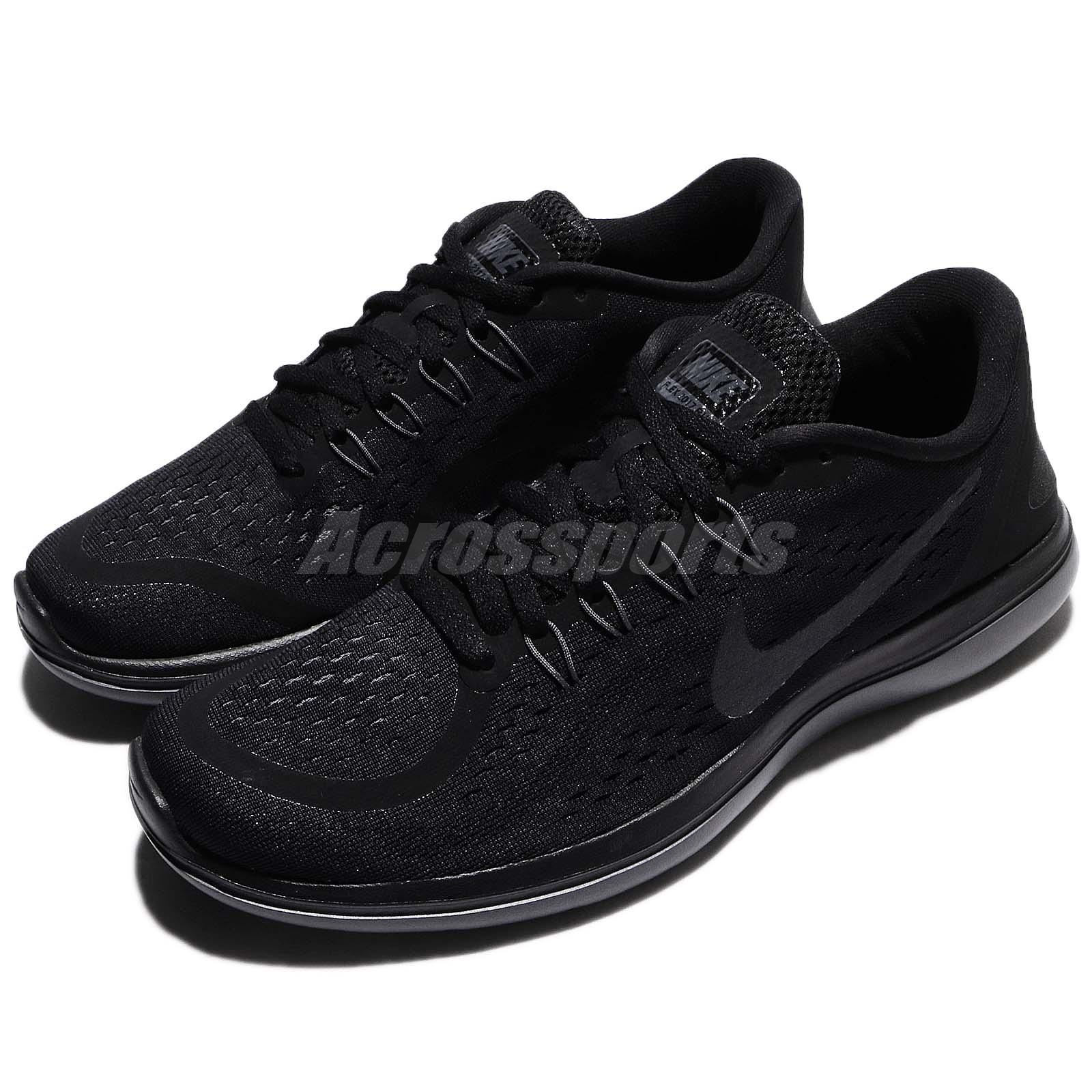 579abb45b2bc Details about Nike Flex 2017 RN Run Black Men Running Shoes Sneakers  898457-005
