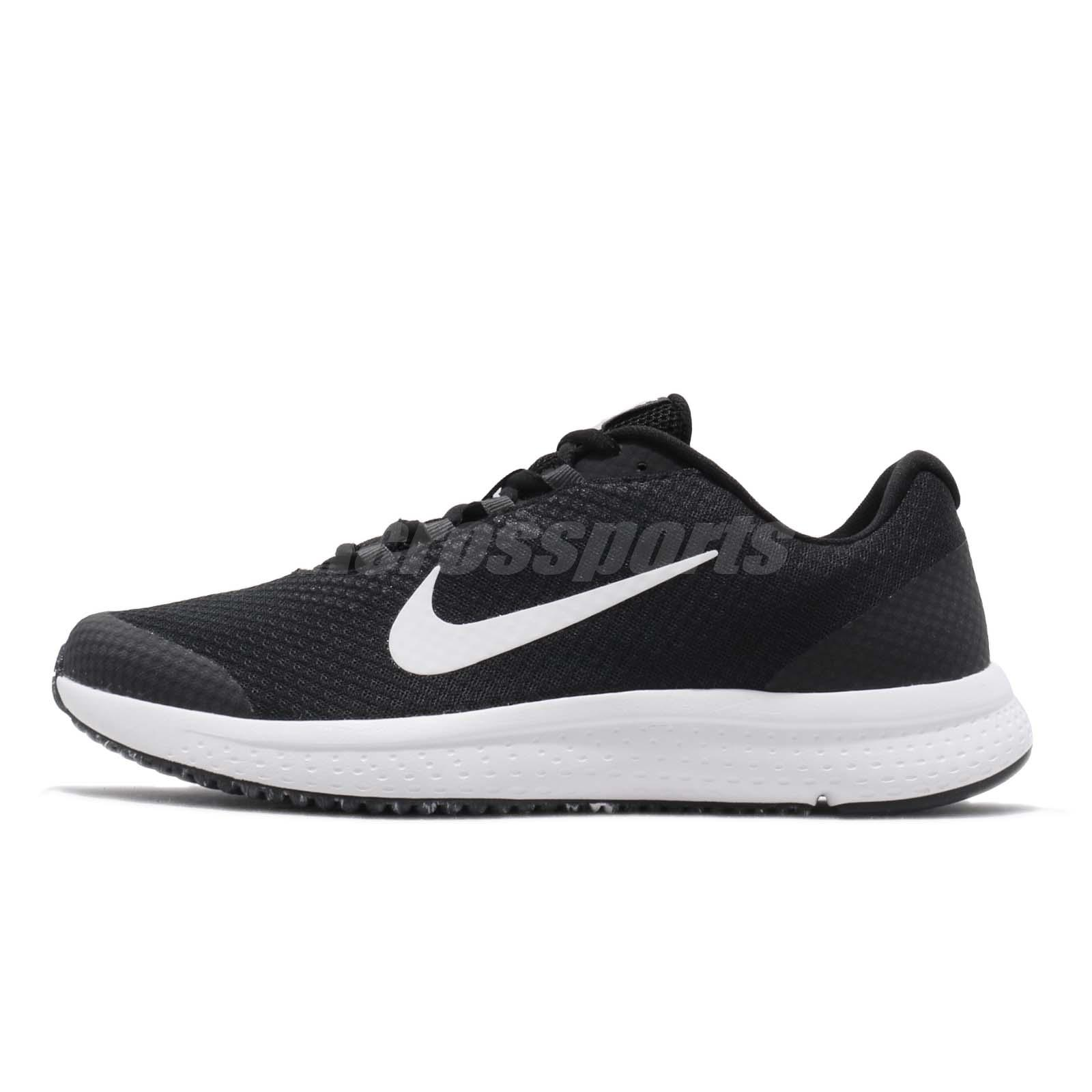99ee3bc08be0a Nike Runallday Black White Mens Running Shoes Run All Day Runner 898464-019