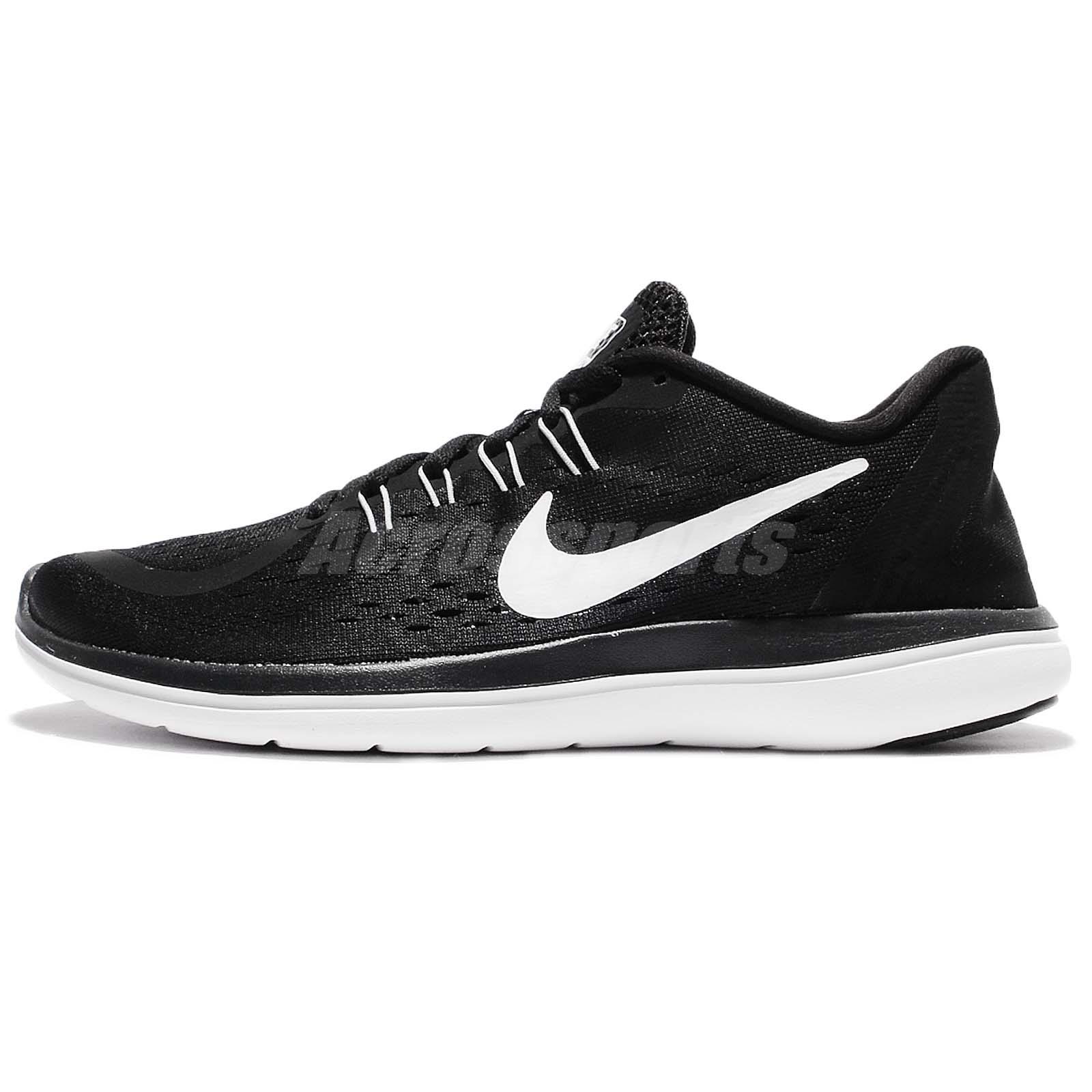premium selection b4bf2 c4ae1 Wmns Nike Flex 2017 RN Run Black White Women Running Shoes Sneakers  898476-001