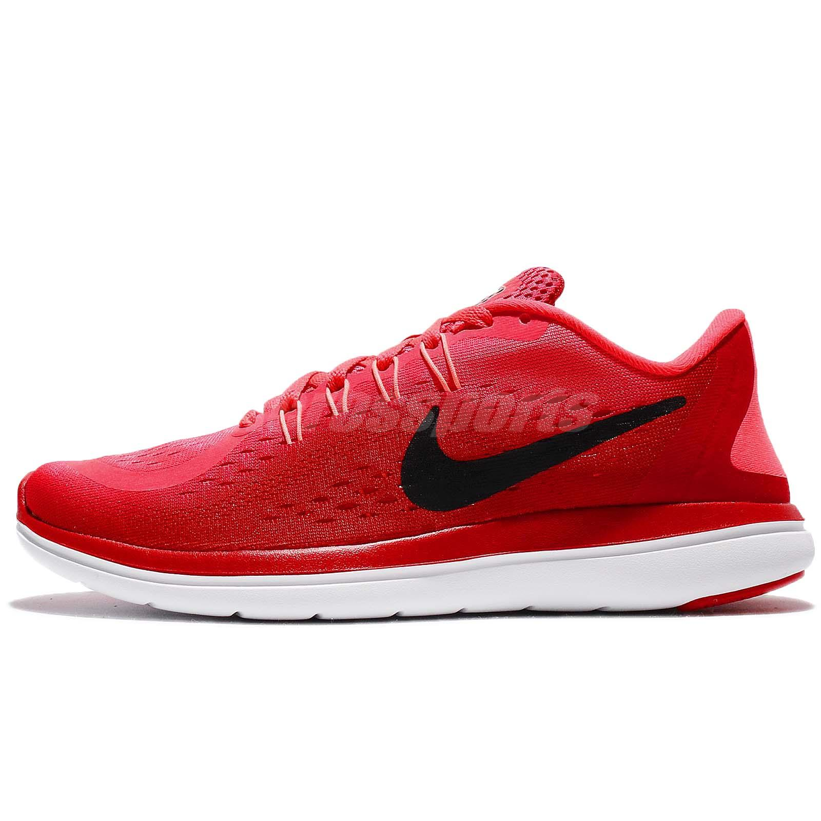 c6e1a342052d9 Wmns Nike Flex 2017 RN Run Solar Red Black Women Running Shoe Sneaker 898476 -600
