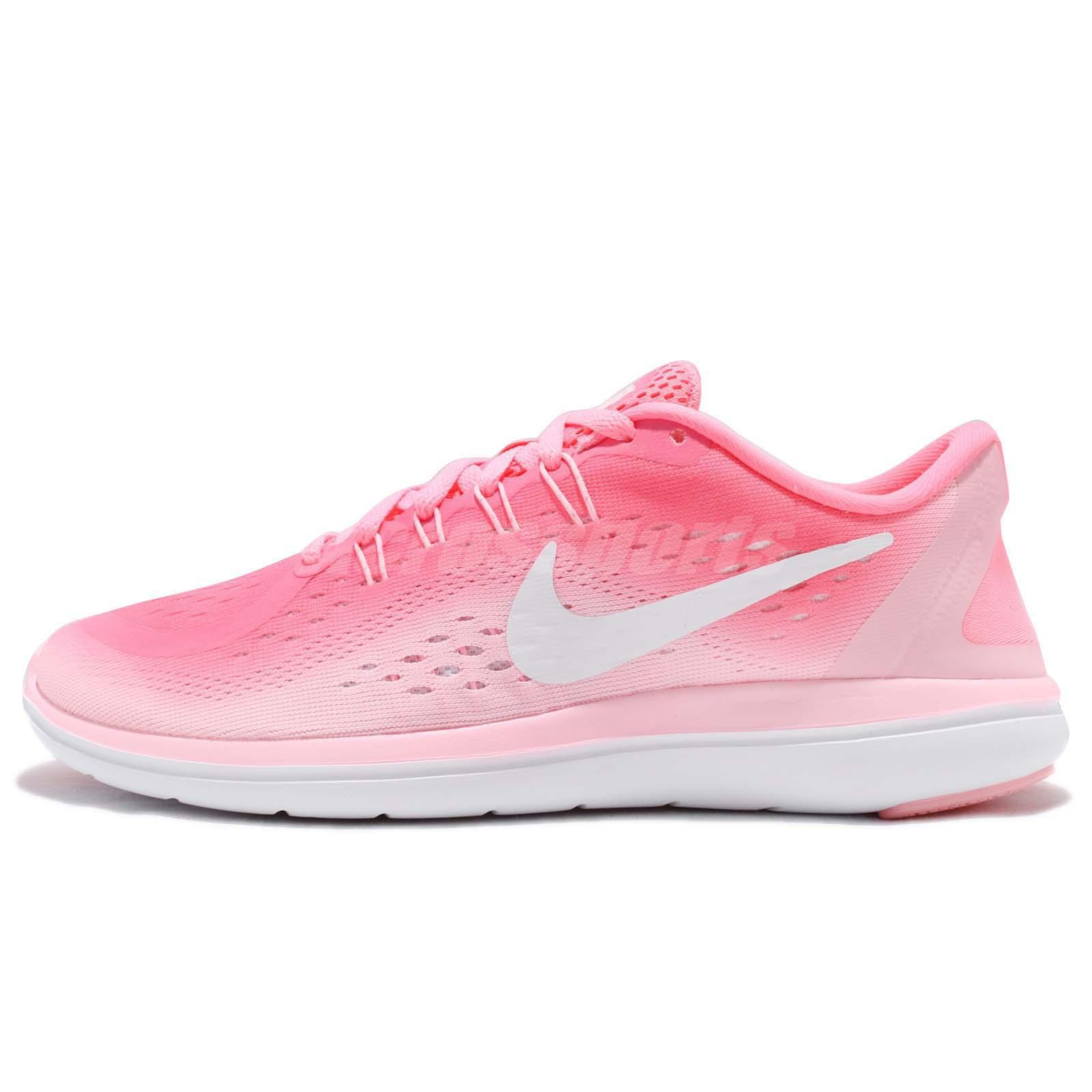 19a0a226989 Wmns Nike Flex 2017 RN Pink Sunset Pulse Women Running Shoes Sneakers  898476-601