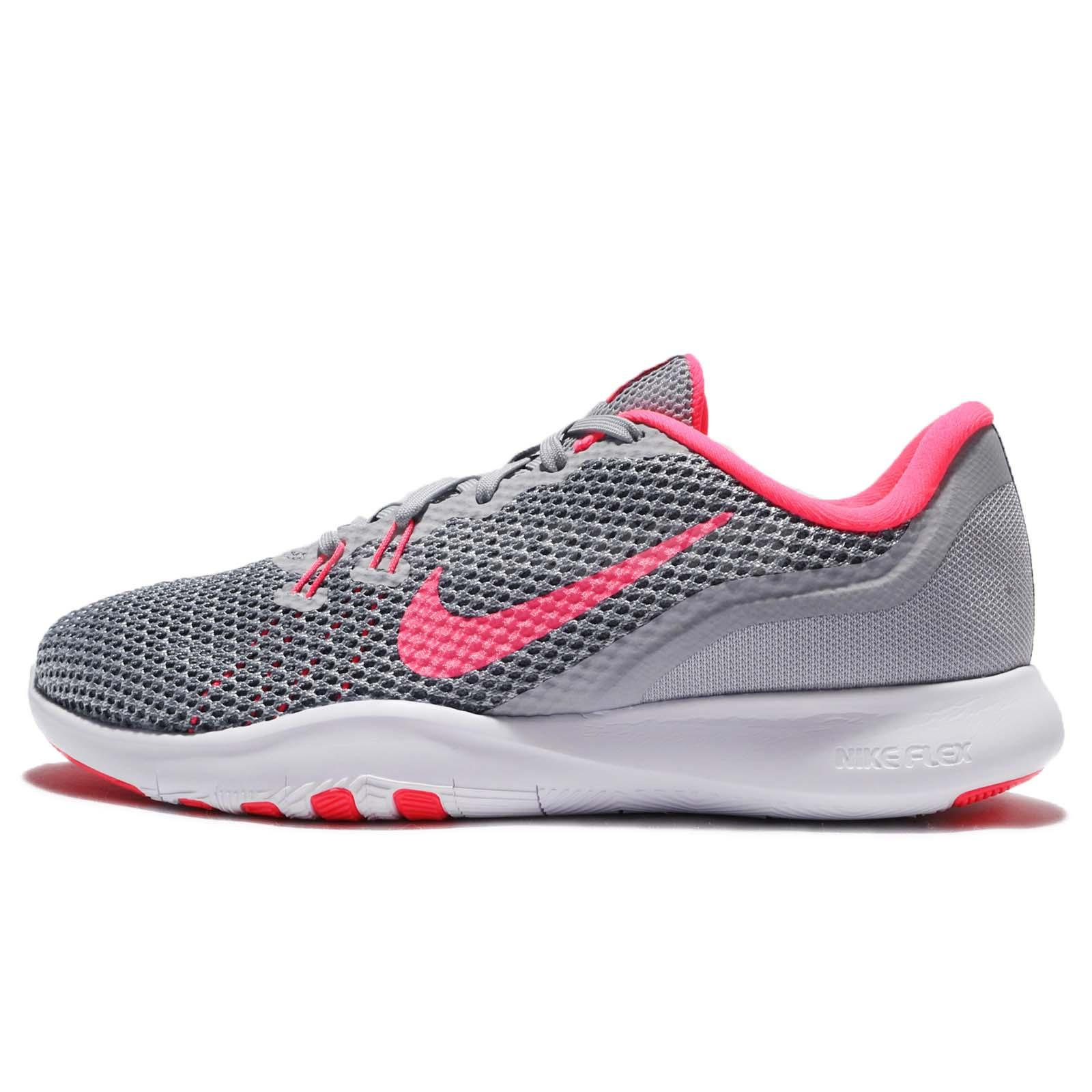 6e1a7dd22db2 Nike Wmns Flex Trainer 7 VII Grey Pink Women Training Shoes Sneakers  898479-006