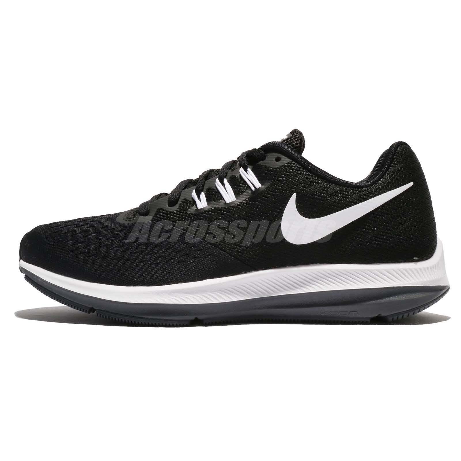 be94e32f5b4 Wmns Nike Zoom Winflo 4 IV Black White Women Running Shoes Sneakers 898485 -001