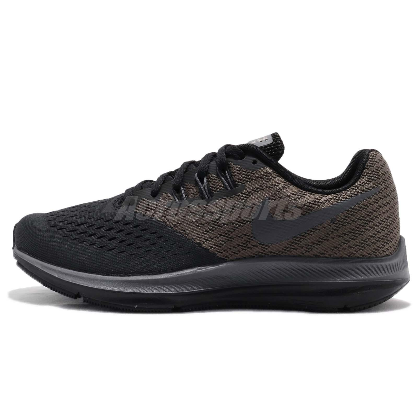 29f0002b935367 Nike Wmns Zoom Winflo 4 IV Grey Black Women Running Shoes Sneakers 898485- 004