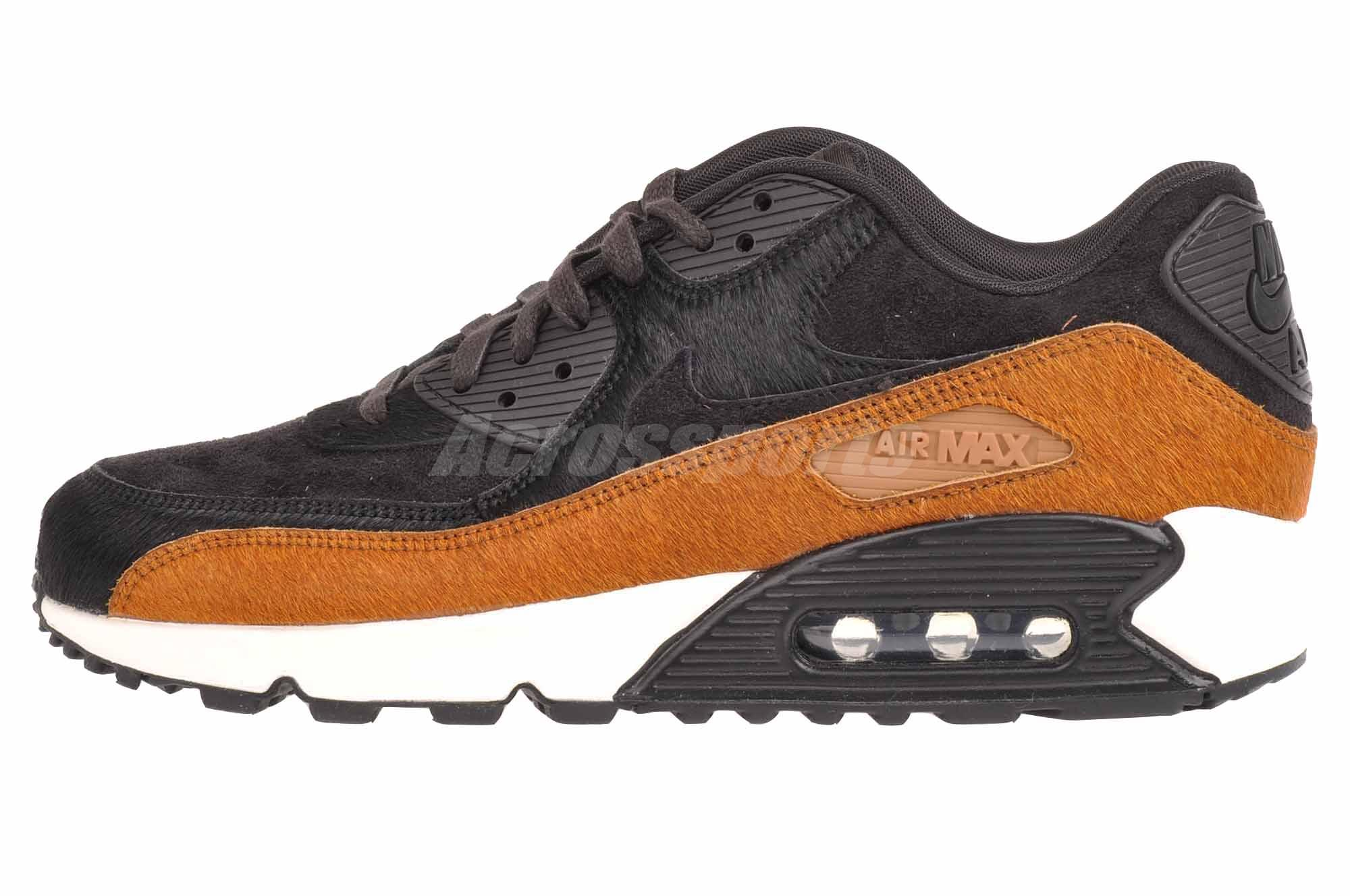new product 124a9 70683 Details about Nike Wmns Air Max 90 LX Casual Womens Shoes Tar Black  898512-005
