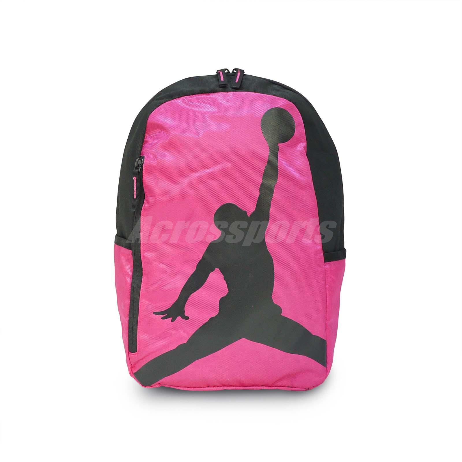 Details about Nike Air Jordan ISO Pack Peach Pink Black Medium Kids Backpack  Bag 8A1911-A5P b3d5bf0bff7bf