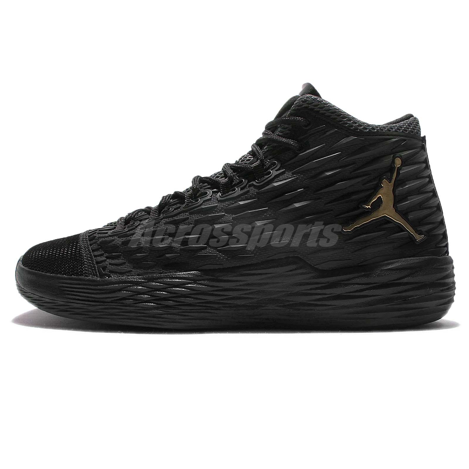quite nice f6398 f985f ... Nike Jordan Melo M13 X Carmelo Anthony XIII Black Gold Men Basketball  902443-002 ...