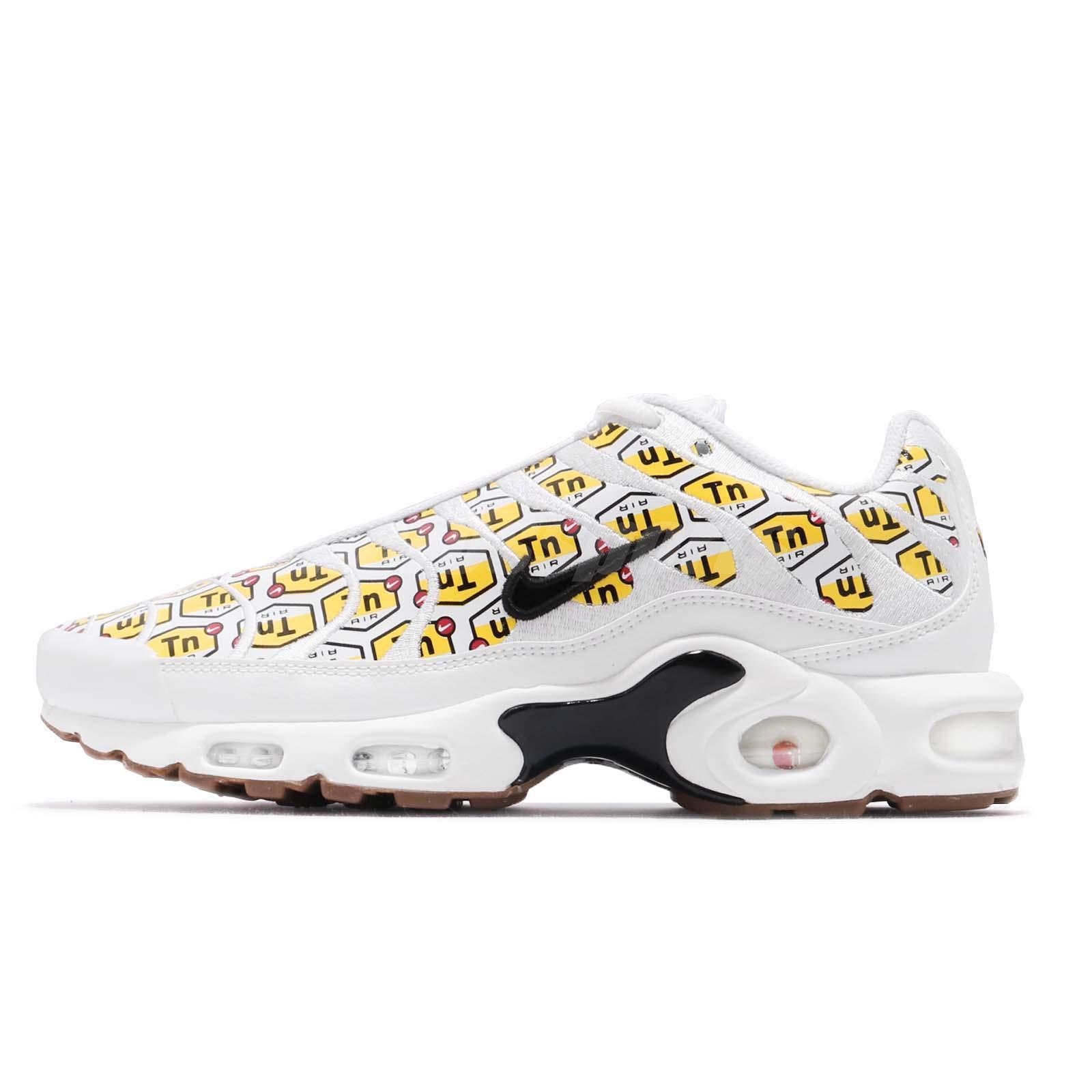 Nike Air Max Plus QS All Over Print White Black Yellow Gum Men Shoes  903827-100 a85c9bff3