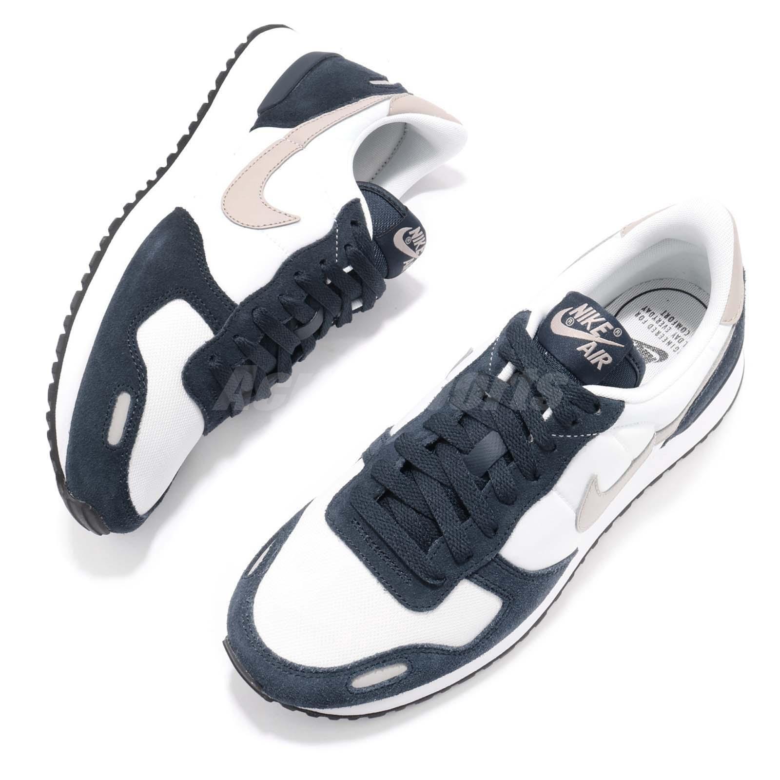 c93b7a28bca7 Nike Air Vrtx Vortex Armory Navy Cobblestone White Men Running Shoes ...