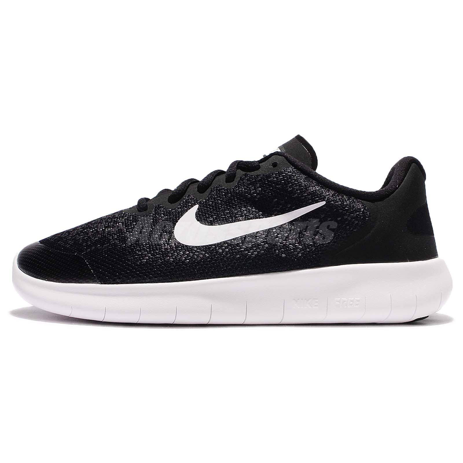 Nike Libre Cours Enfants En Noir Et Blanc