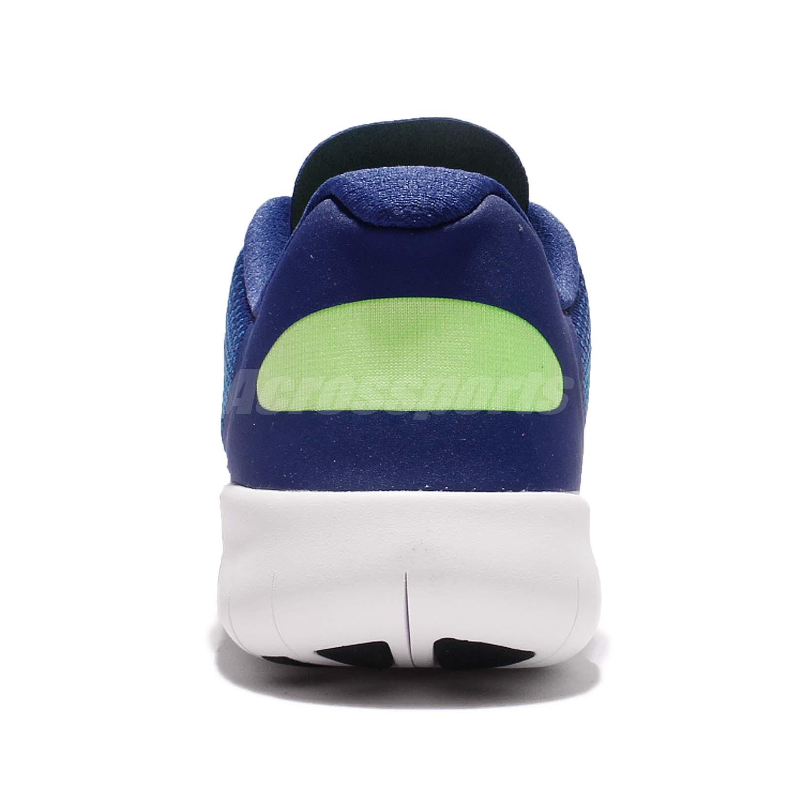eecebe51e9b Nike Free RN 2017 GS Run Blue White Kids Running Shoes Sneakers ...