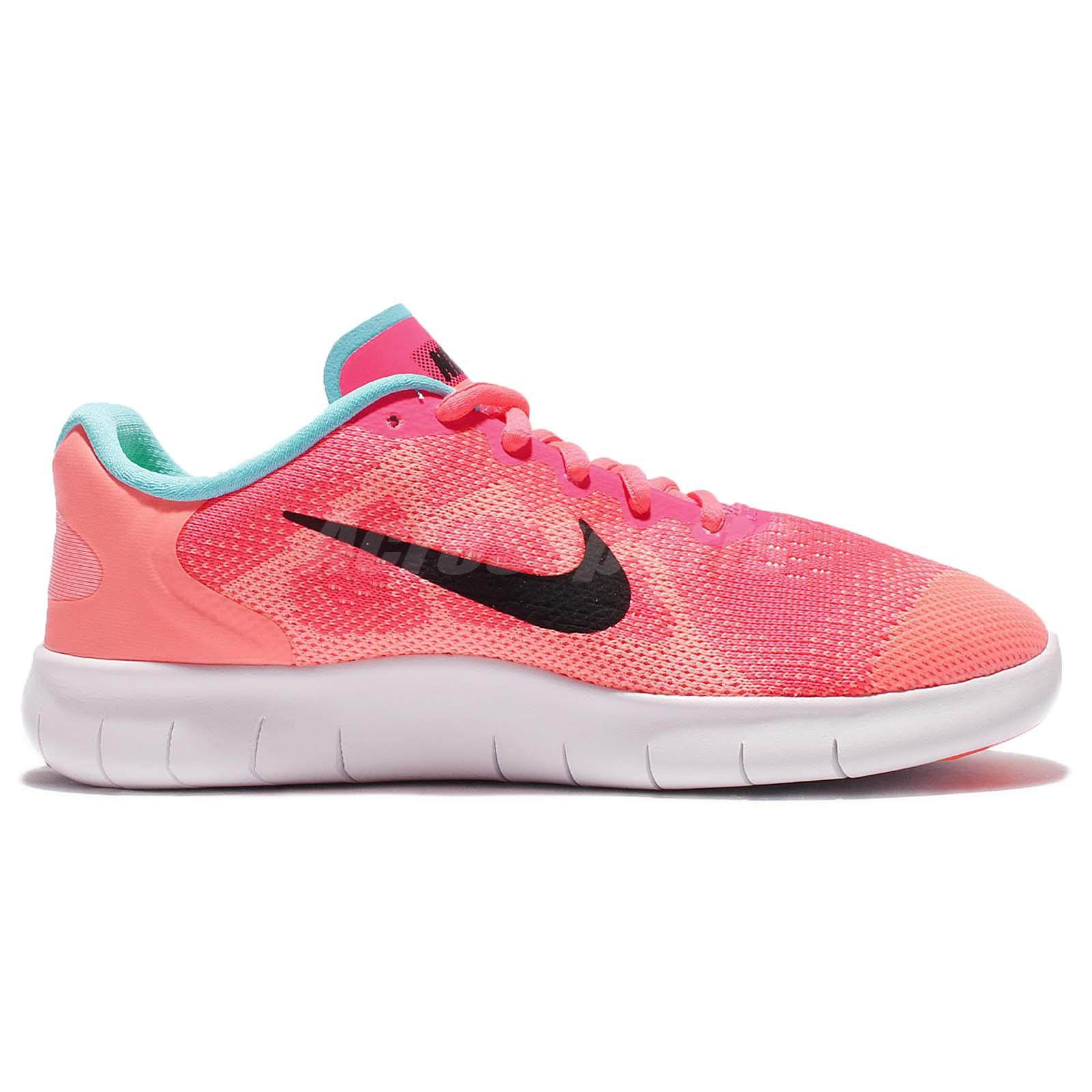 Details about Nike Free RN 2017 GS Pink White Kid Youth Running Shoes Sneakers 904258 600