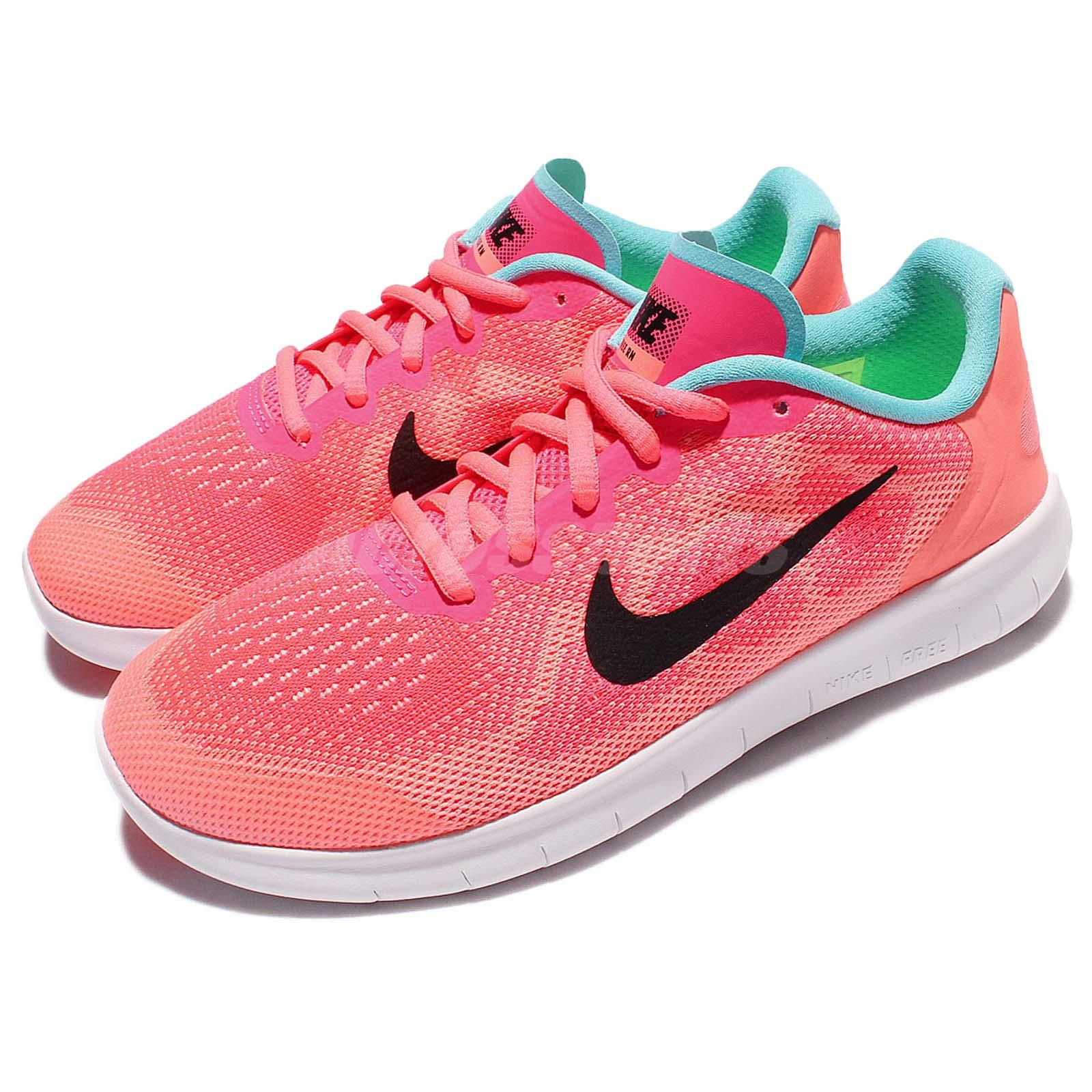 huge selection of b8404 6ad53 Details about Nike Nike Free RN 2017 GS Pink Kids Girls Boys Running Shoes  Sneakers 904258-600