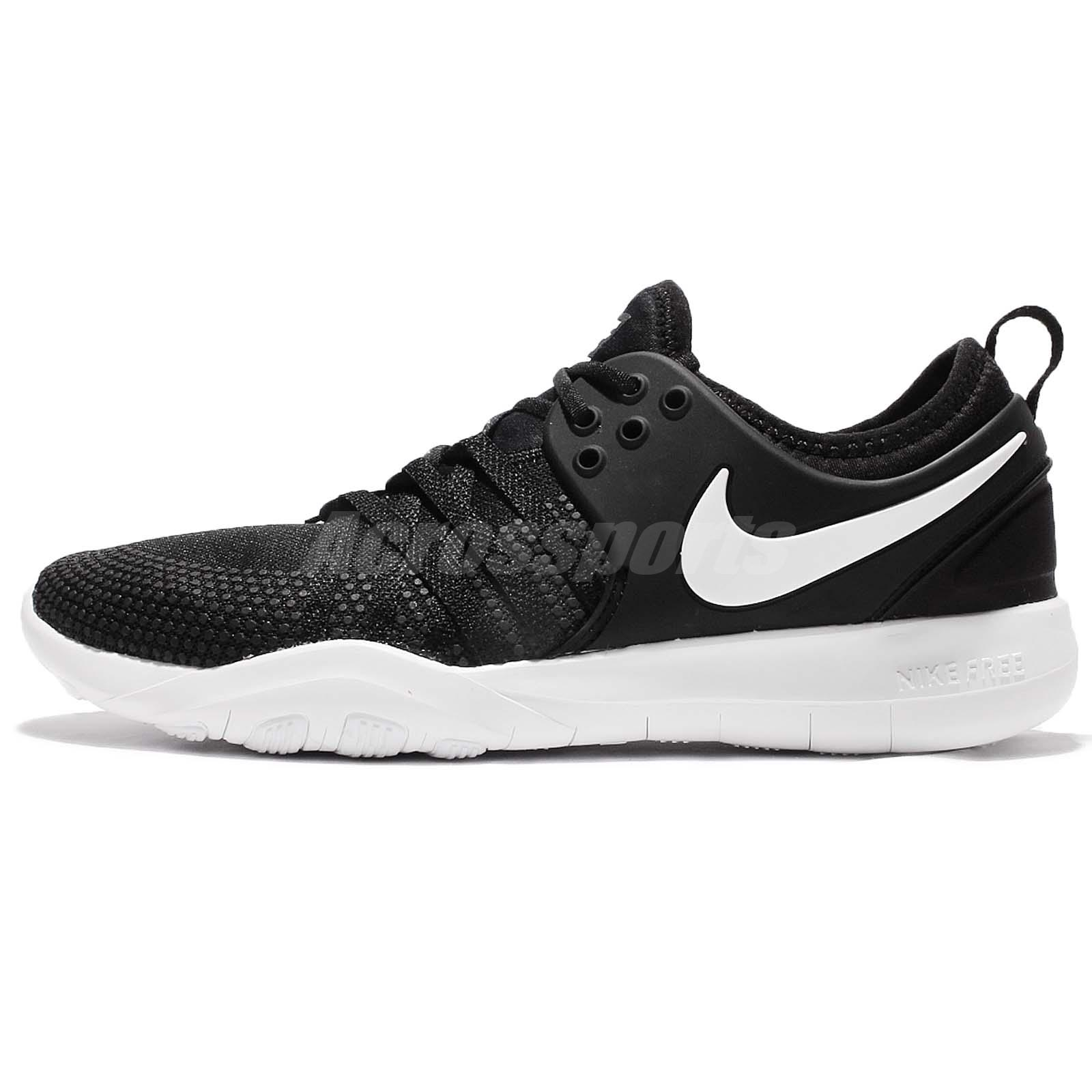 wholesale dealer 61292 0ffe0 Wmns Nike Free TR 7 VII Black White Women Training Shoes Gym Trainers 904651 -001