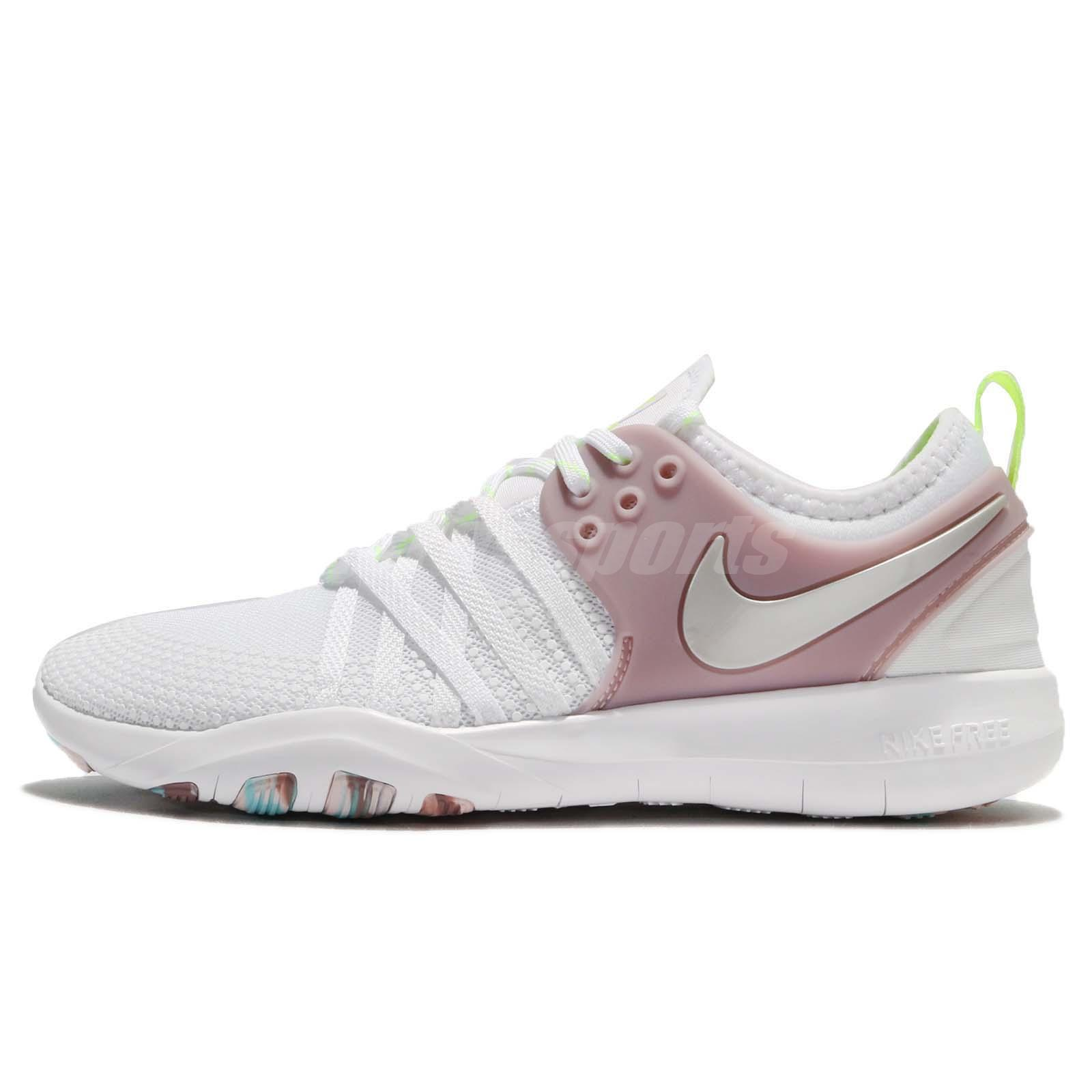8477f9da5ca Wmns Nike Free TR 7 VII White Elemental Rose Women Training Shoes 904651-102