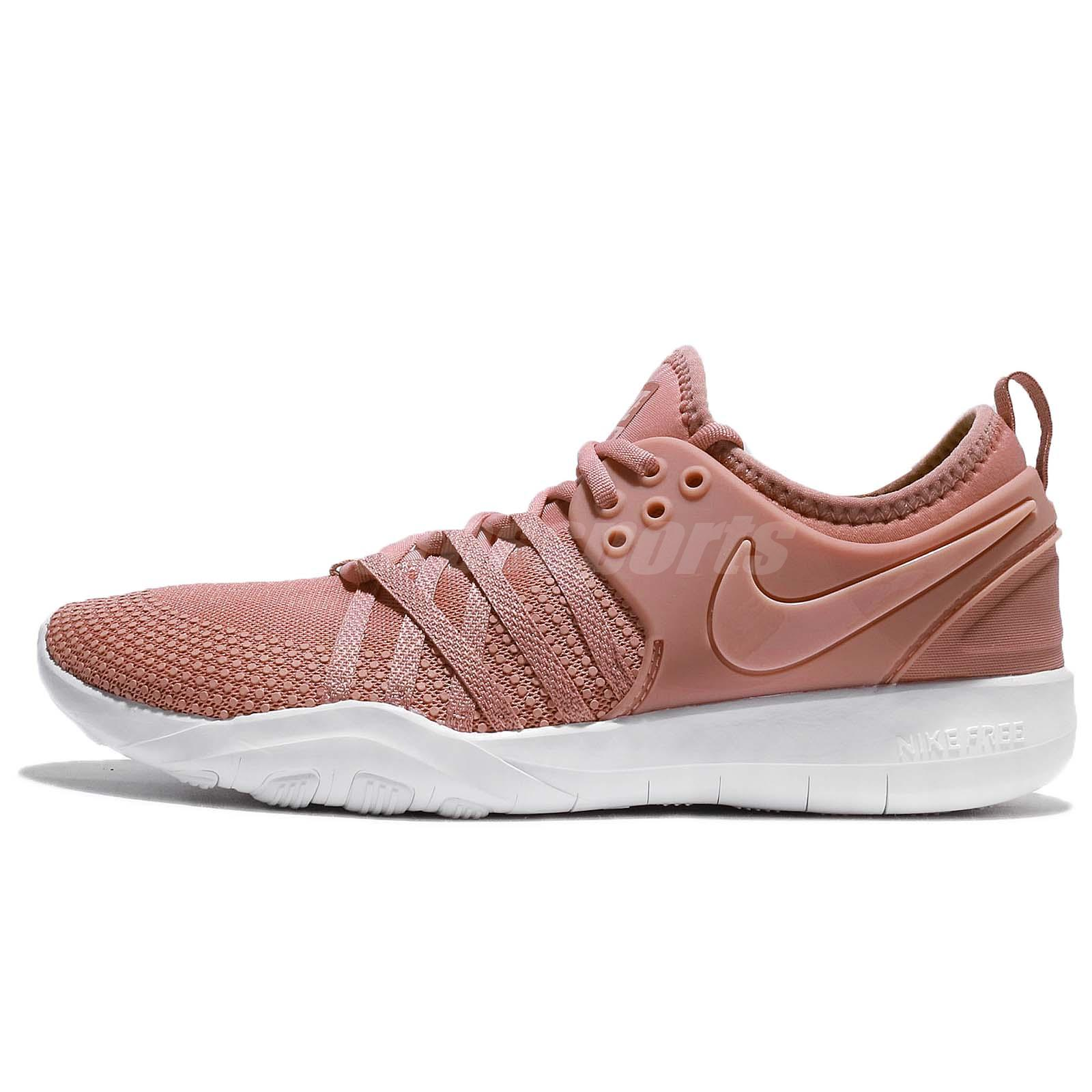 45f2659082d Details about Wmns Nike Free TR 7 VII Rust Pink White Women Training  Trainers 904651-604