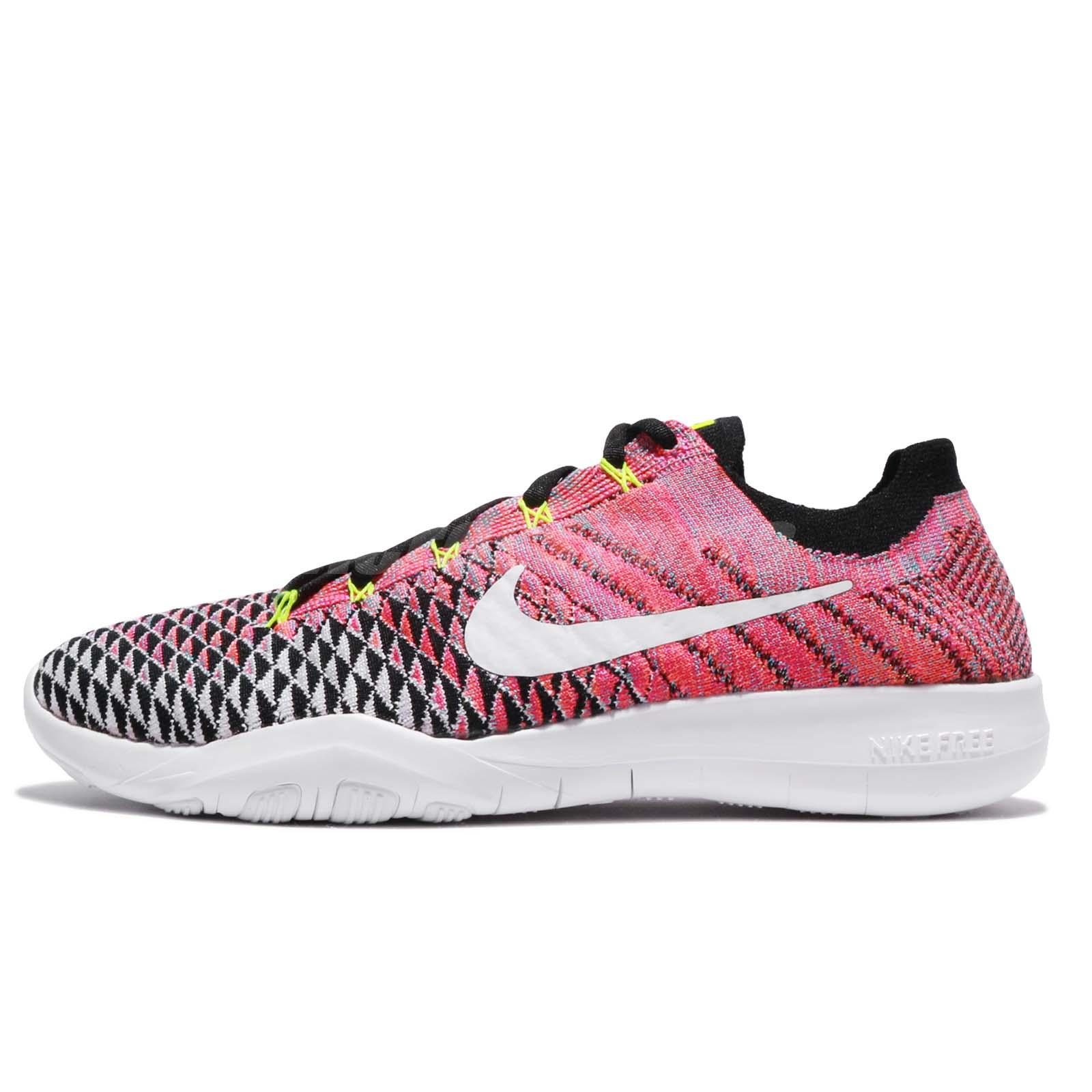 purchase cheap ad01a 056f4 Wmns Nike Free TR Flyknit 2 II Black Volt Pink Women Training Shoes  904658-006