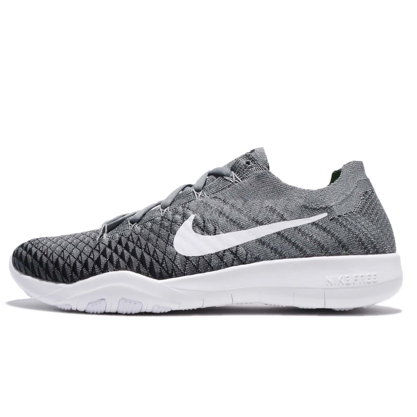 Wmns Nike Free TR Flyknit 2 II Grey White Black Women Training Shoes 904658007