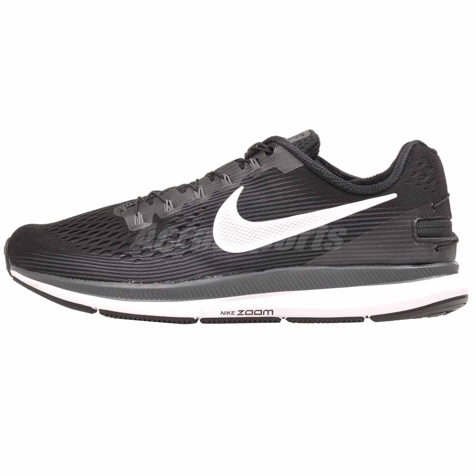 3008c7fb4aea Nike Zoom Pegasus 34 Flyease Running Mens Shoes Black White Grey 904678-001