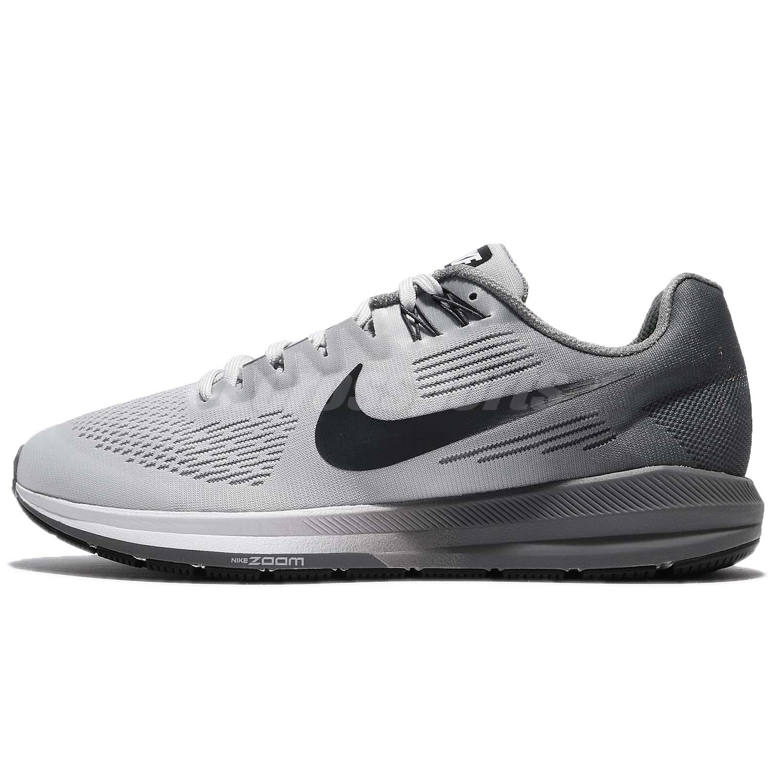 0bb18578e24f3 Nike Air Zoom Structure 21 Pure Platinum Anthracite Men Running Shoes 904695 -005