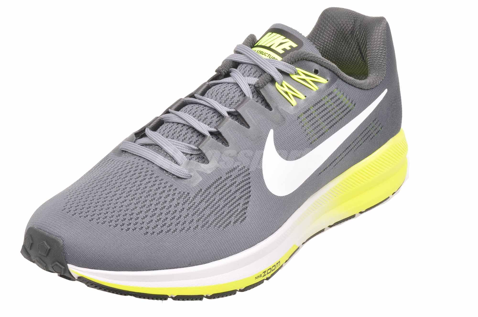 93318960196d3 Nike Air Zoom Structure 21 4E Wide Running Mens Running Shoes Grey ...