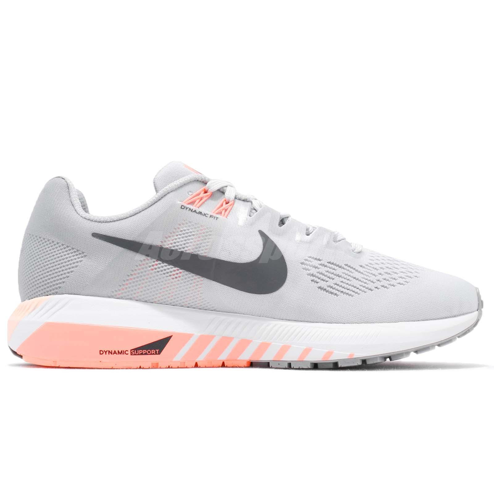 Details about Nike Wmns Air Zoom Structure 21 Wolf Grey Women Running Shoes Sneaker 904701 008