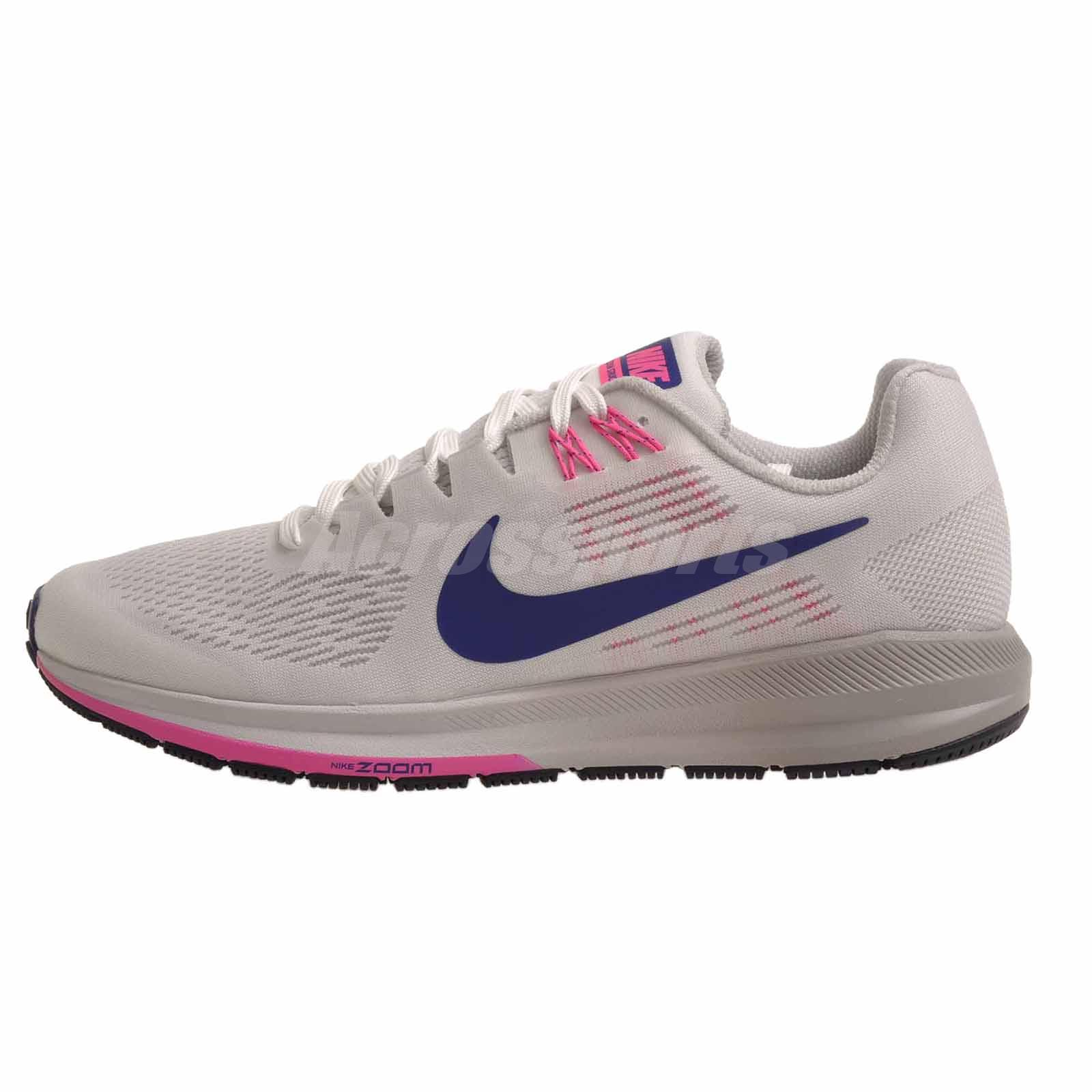 0a3865df754 Details about Nike W Air Zoom Structure 21 Running Womens Shoes Summit  White 904701-101