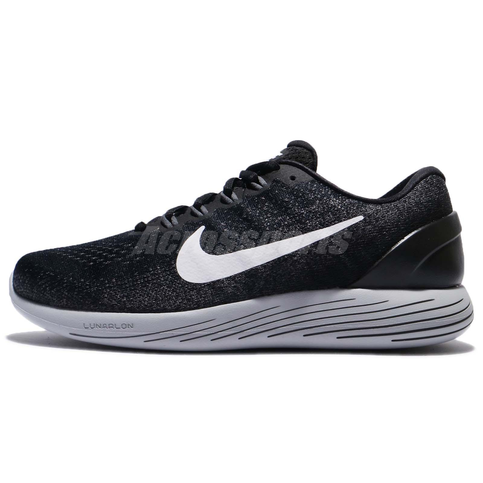85725d270ef Nike Lunarglide 9 IX Black White Grey Men Running Shoes Trainers 904715-001