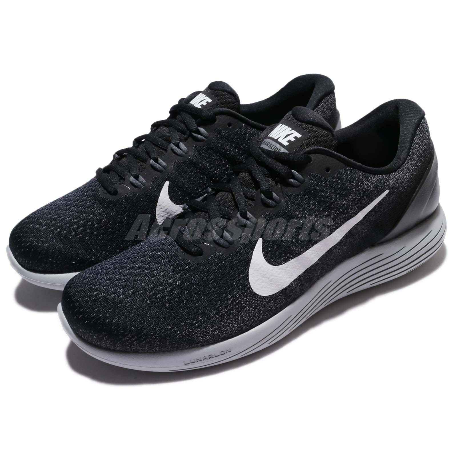ea77f2ee79c6 Details about Nike Lunarglide 9 IX Black White Grey Men Running Shoes  Trainers 904715-001