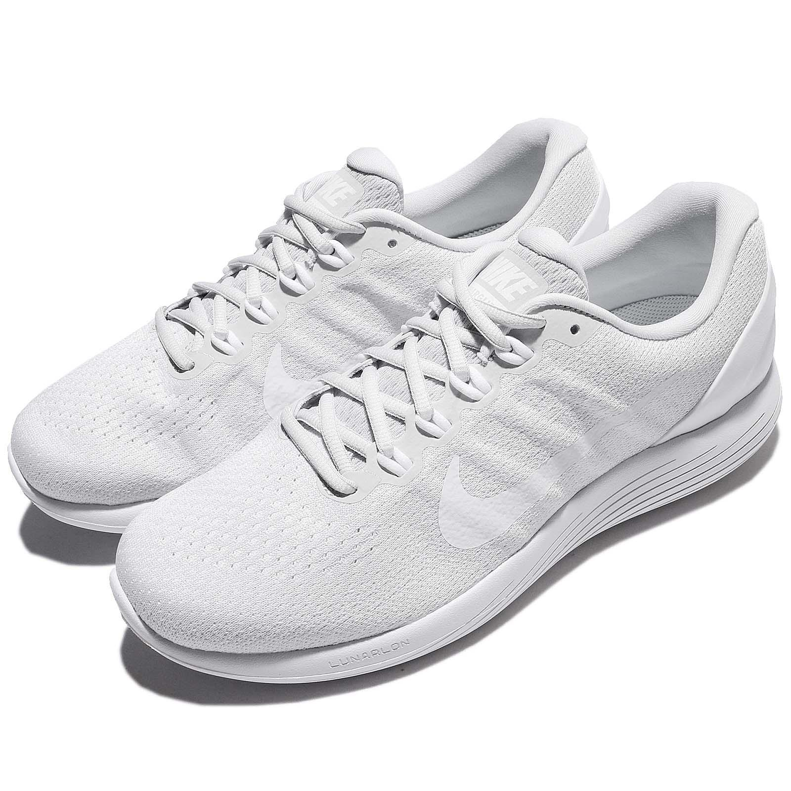290c3f0017e Details about Nike Lunarglide 9 IX Platinum White Men Running Shoes Sneakers  904715-003