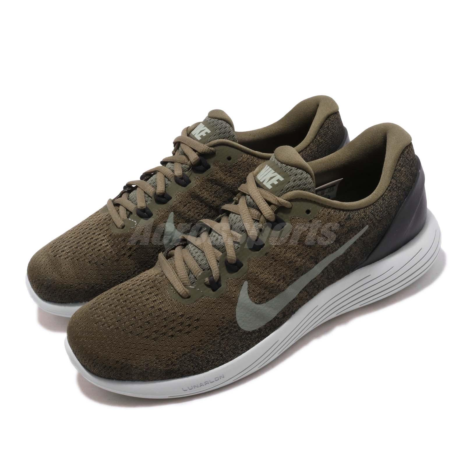 8e0f4eb9b4 Details about Nike Lunarglide 9 IX Olive Green Black Men Running Shoes  Sneakers 904715-200