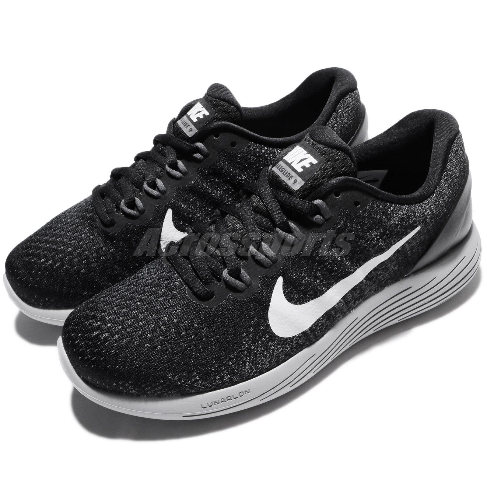 77647ddb5e6 Details about Wmns Nike Lunarglide 9 IX Black Dark Grey Women Running Shoes  Trainer 904716-001