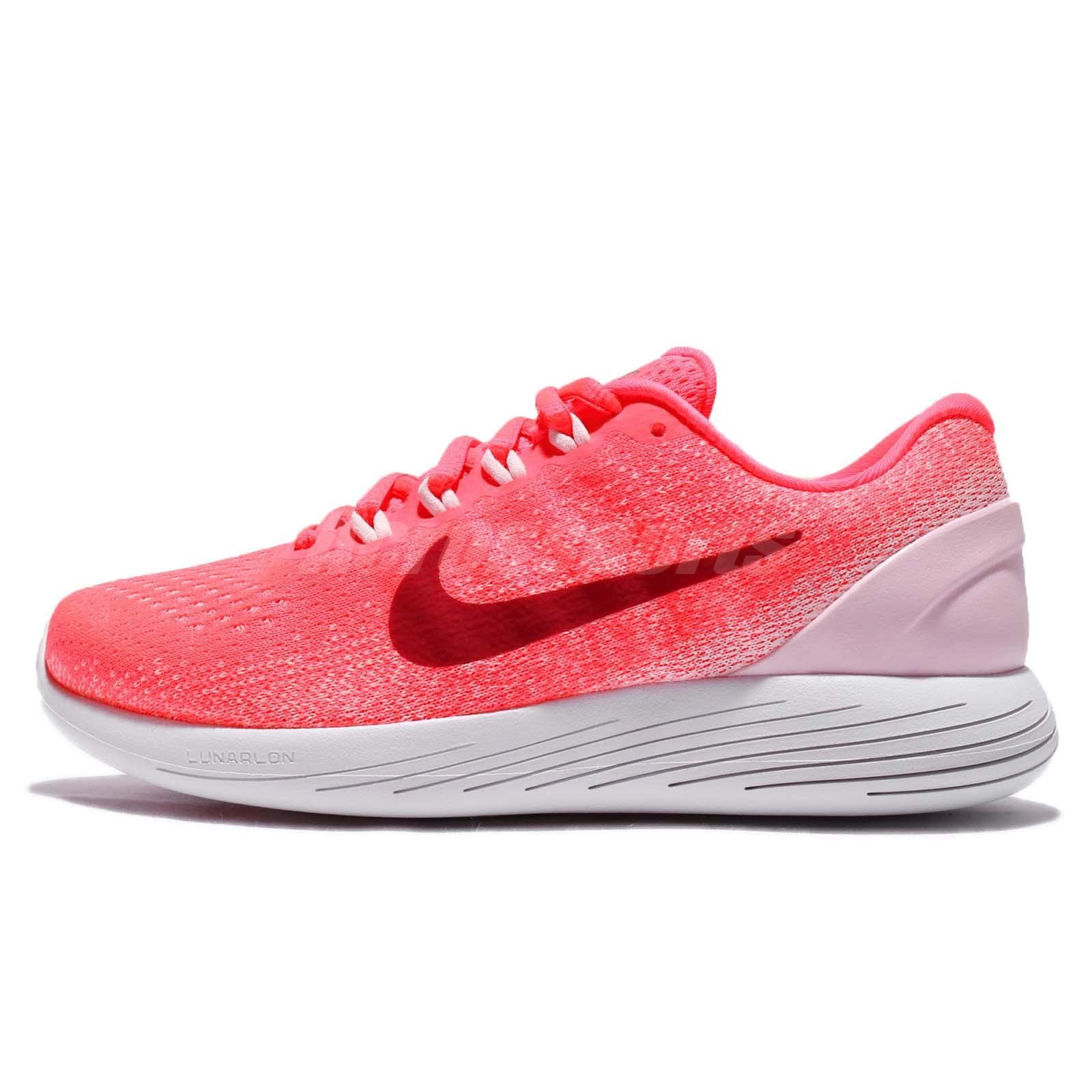 NIKE Lunarglide 9 904716 601 Punch/Noble Red Women Running Athletic Shoe Sz 7.5M