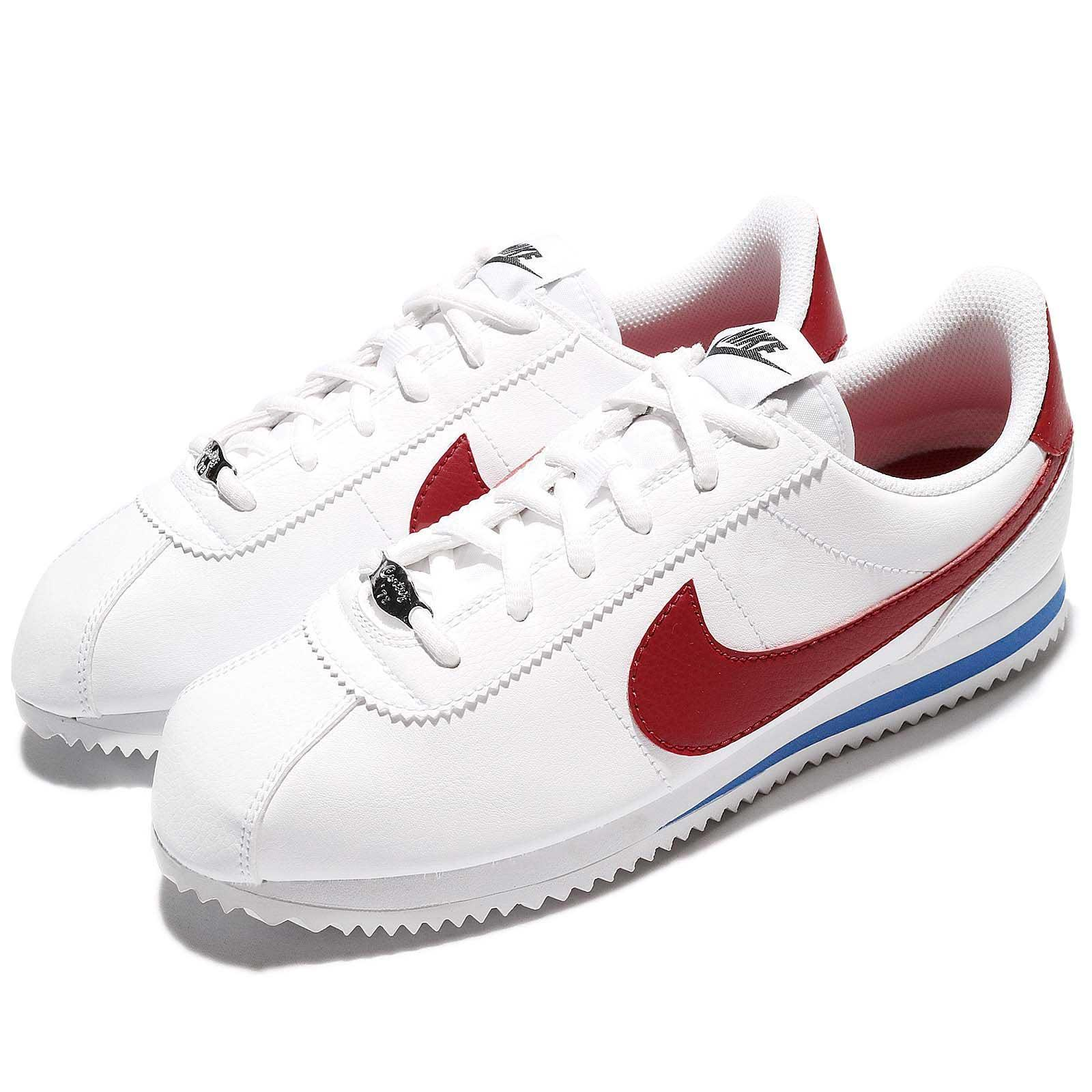 Details about Nike Cortez Basic SL GS Forrest Gump OG Varsity Red Women Kid  Shoes 904764-103