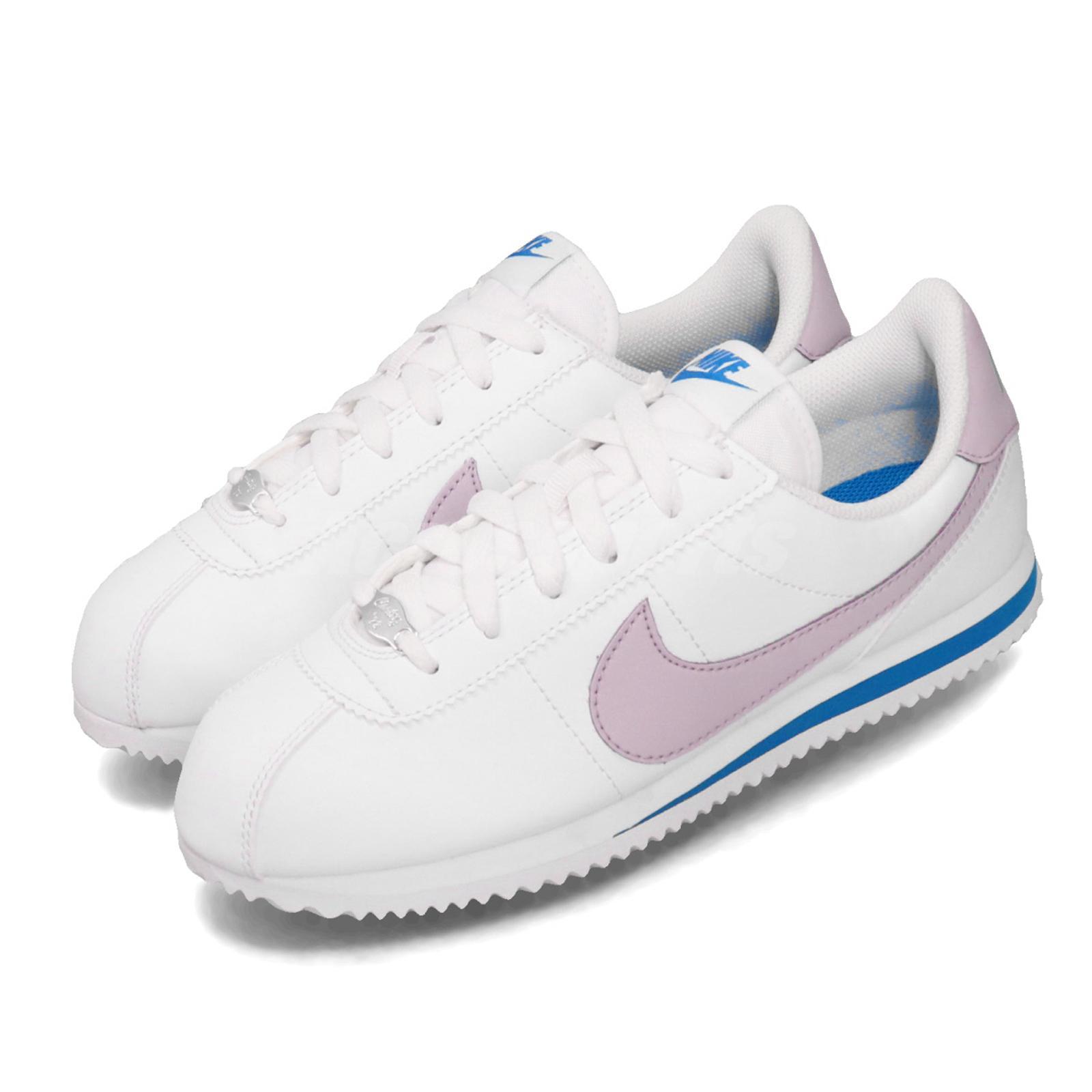 Respetuoso del medio ambiente Microprocesador Alentar  Nike Cortez Basic SL GS White Iced Lilac Purple Blue Kid Women Shoes  904764-108 | eBay
