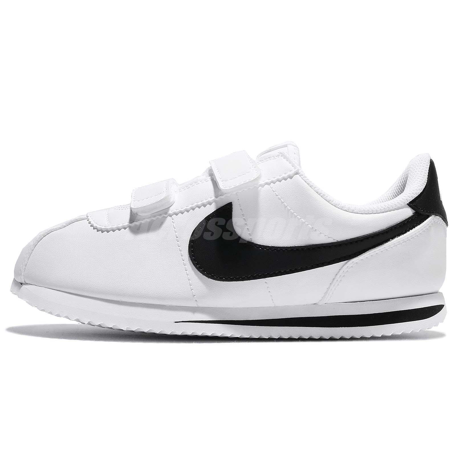 new styles c0367 c2d24 Nike Cortez Basic SL PSV White Black Preschool Boys Grils Running 904767-102