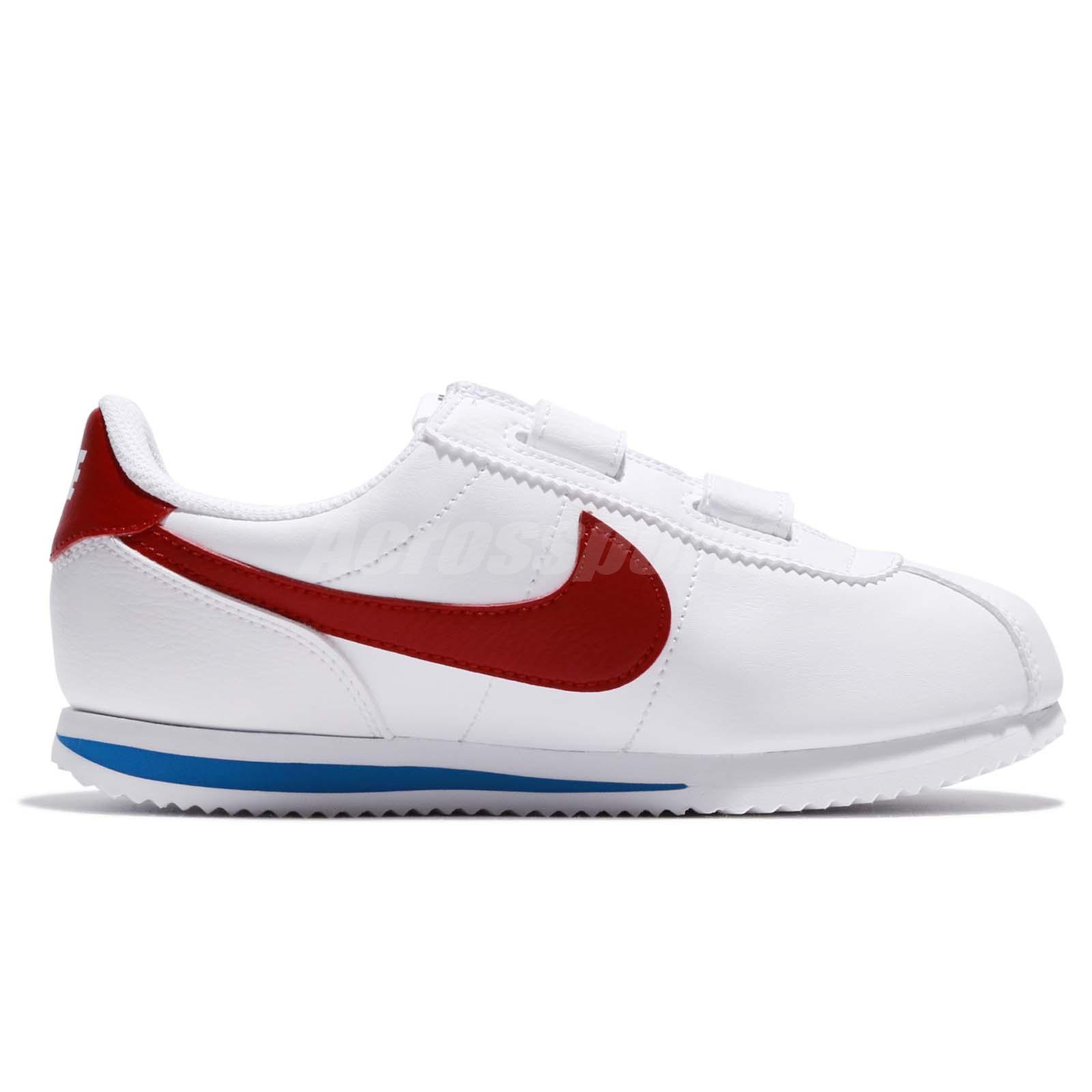 9b237787d8fa Nike Cortez Basic SL PSV Forrest Gump OG White Red Preschool Girl ...