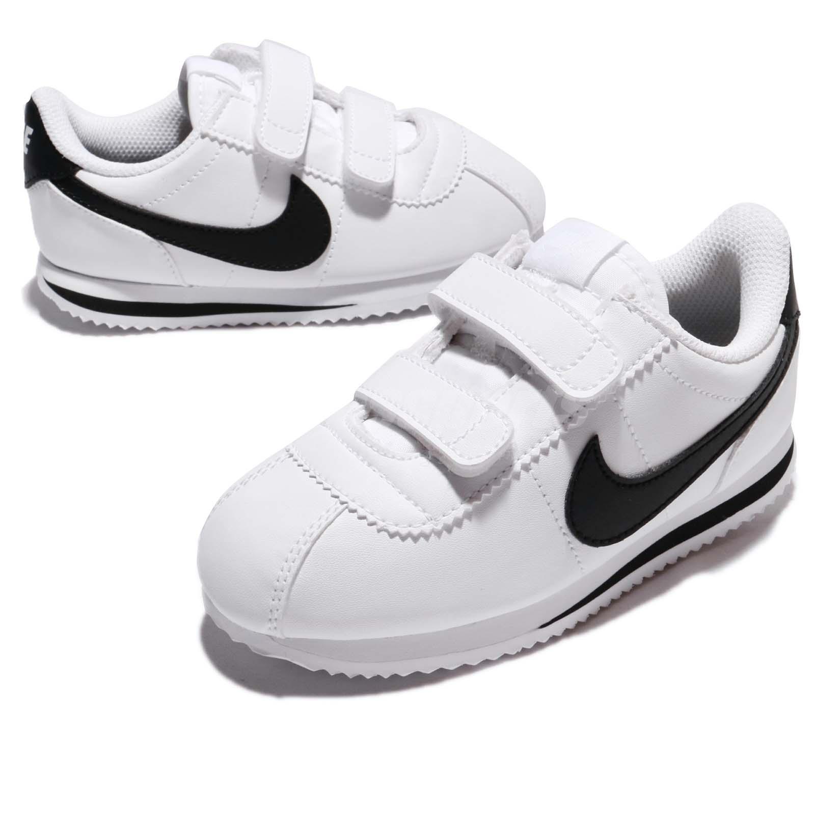 9452be2f02 Nike Cortez Basic SL TDV White Black Toddler Infant Baby Shoe ...