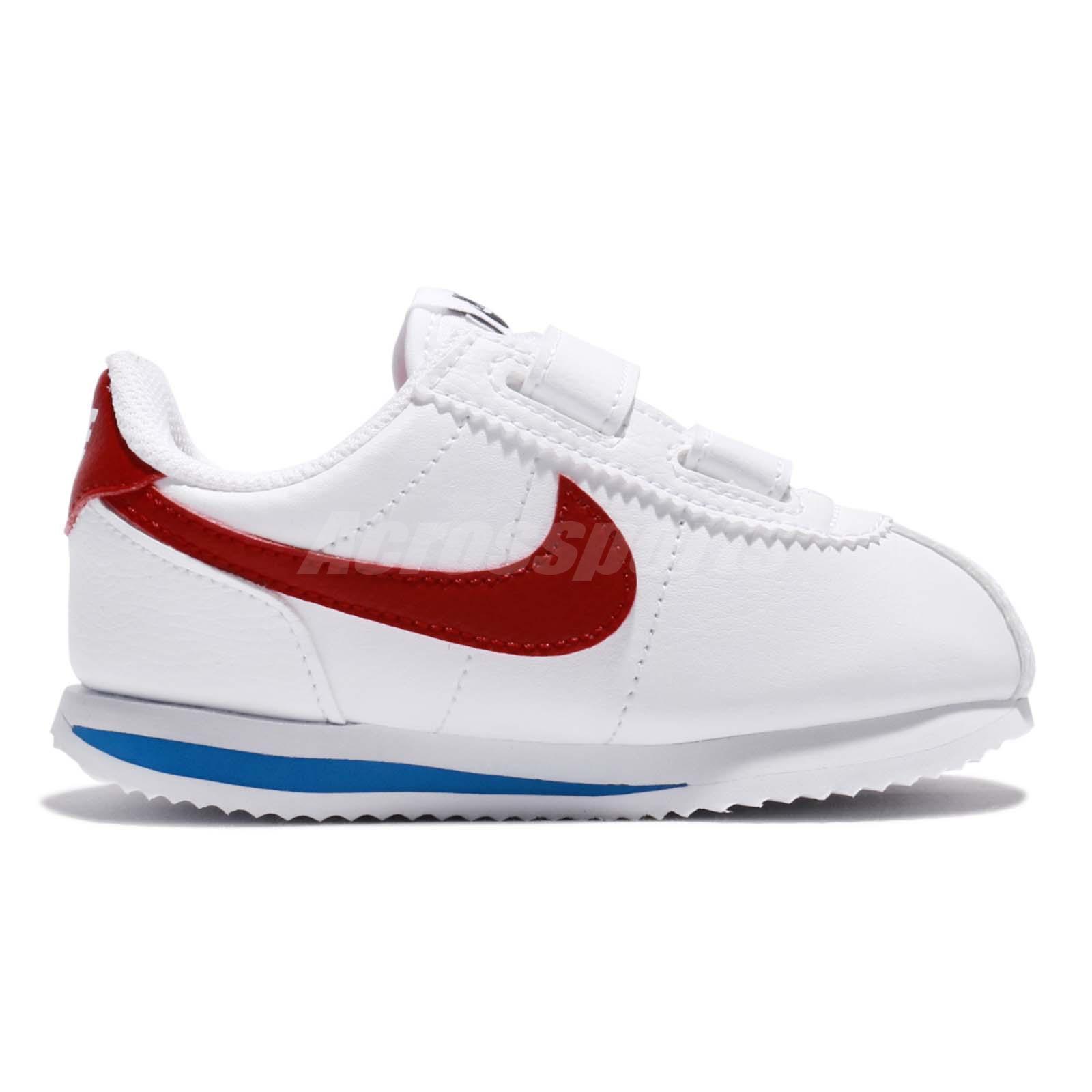 997fa0a71488 Nike Cortez Basic SL TDV OG Forrest Gump White Red Toddler Infant ...