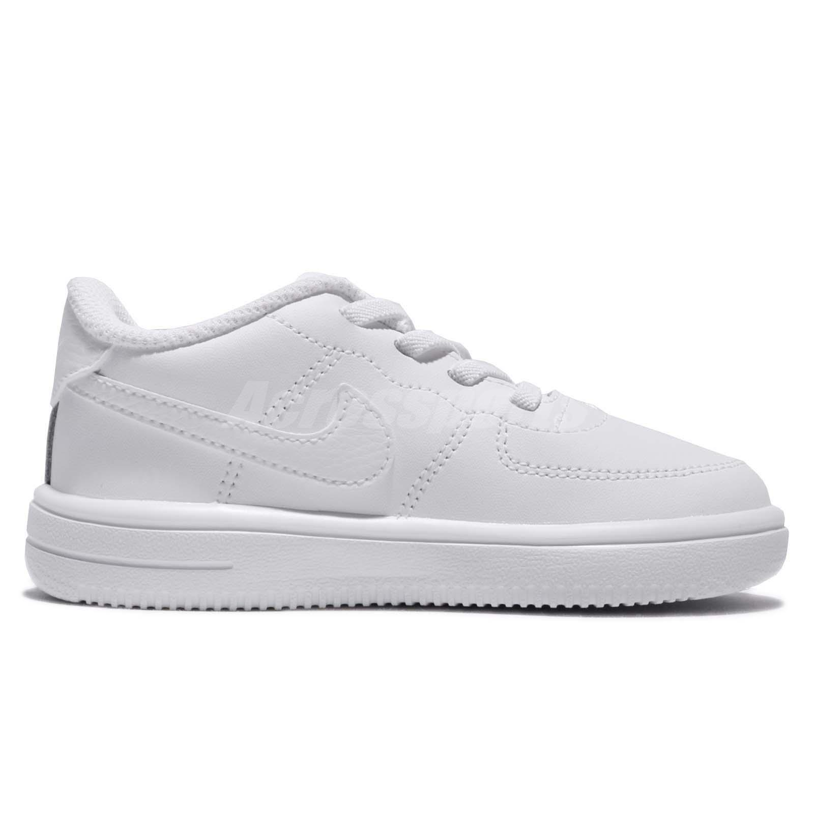 2cdf23014b Details about Nike Force 1 18 TD Triple White AF1 Toddler Infant Baby Shoes  Sneaker 905220-100