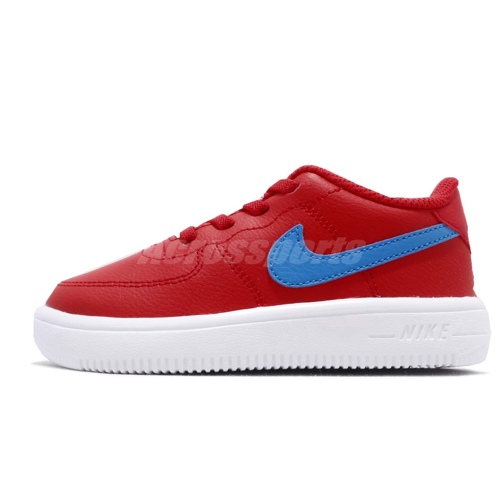 buy popular 255ba 77d82 Nike Force 1 18 TD University Red Photo Blue Toddler Infant Shoes 905220-604