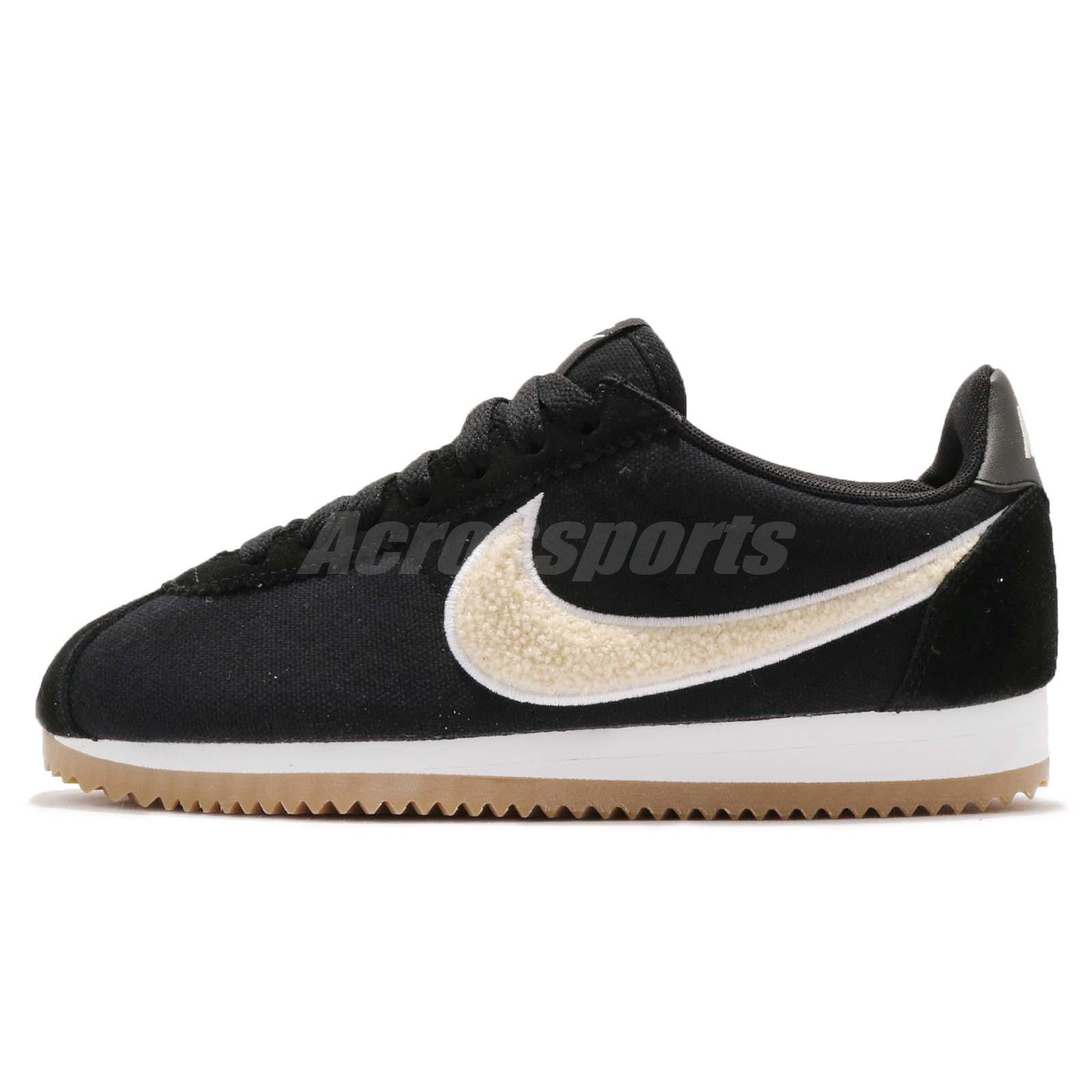 big sale 09795 f3115 Nike Wmns Classic Cortez PREM Premium Black Light Cream Gum Women 905614-008