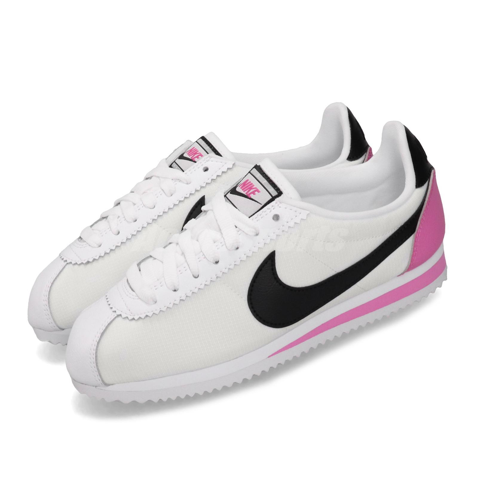Infidelidad Tacón Arrugas  Nike Wmns Classic Cortez PREM White Black Rose Womens Running Shoes  905614-106 | eBay