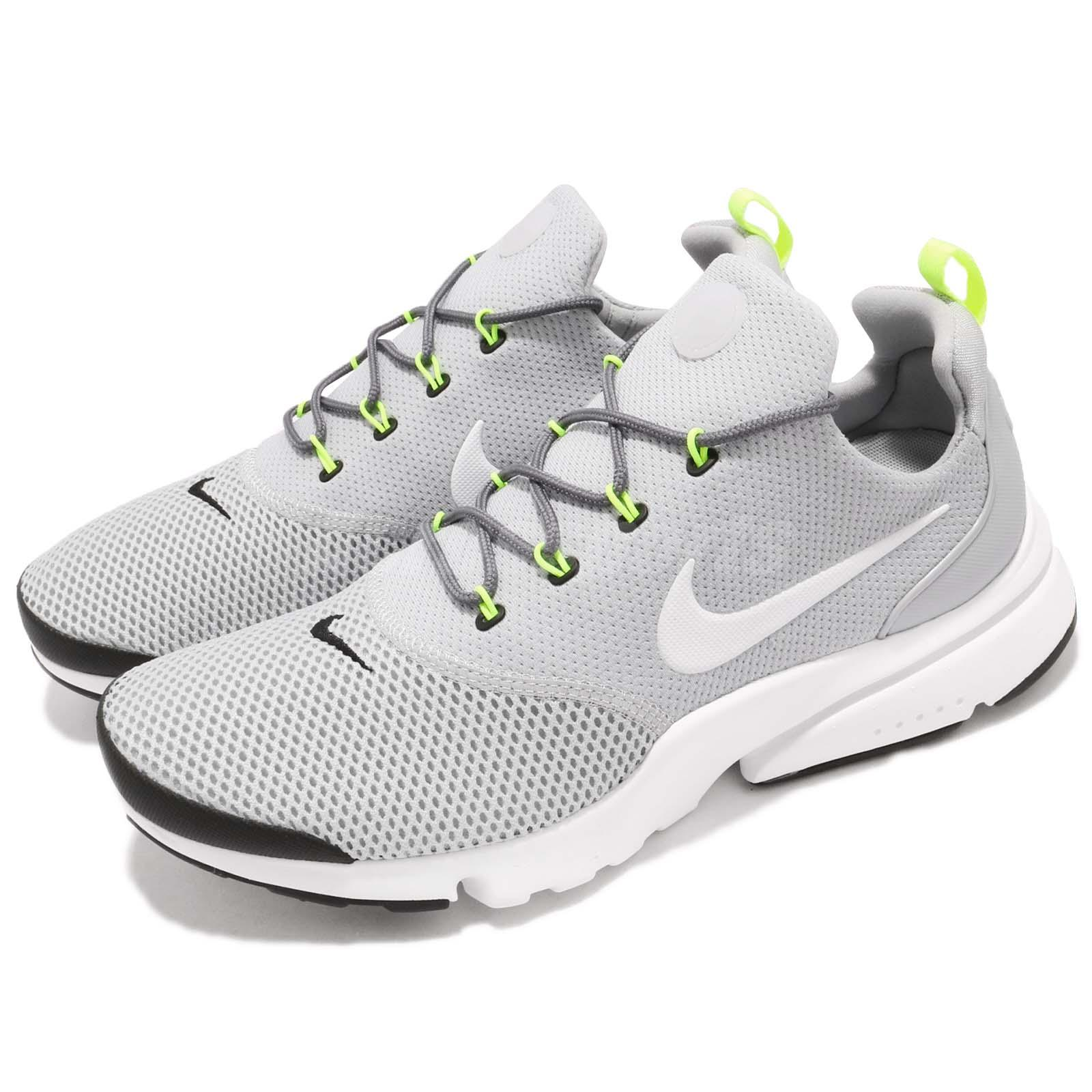 huge selection of f708e 55b11 Details about Nike Presto Fly Grey White Volt Black Men Running Shoes  Sneakers 908019-013