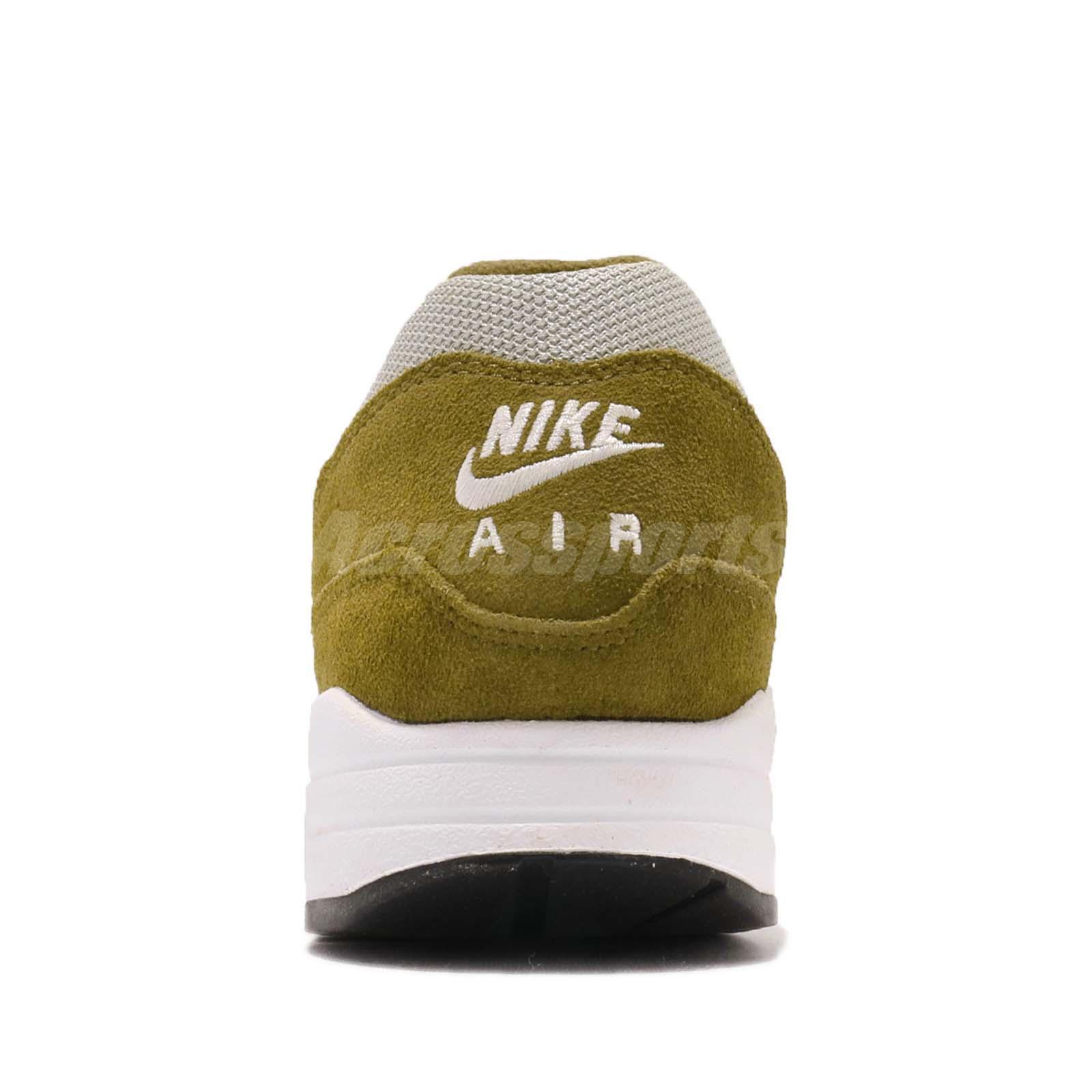 a09a1481cb atmos X Nike Air Max 1 Premium Retro Green Curry Men Running Shoes ...